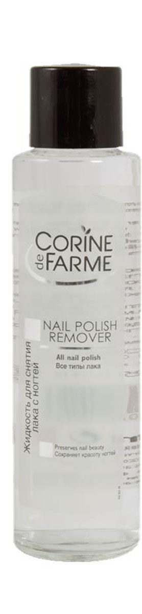 Corine De Farme Жидкость для снятия лака с ногтей, 200 мл40170Жидкость для снятия всех, даже особо стойких, типов лака. Жидкость тщательно снимает лак с ногтей, после чего вы снова можете наносить лак.