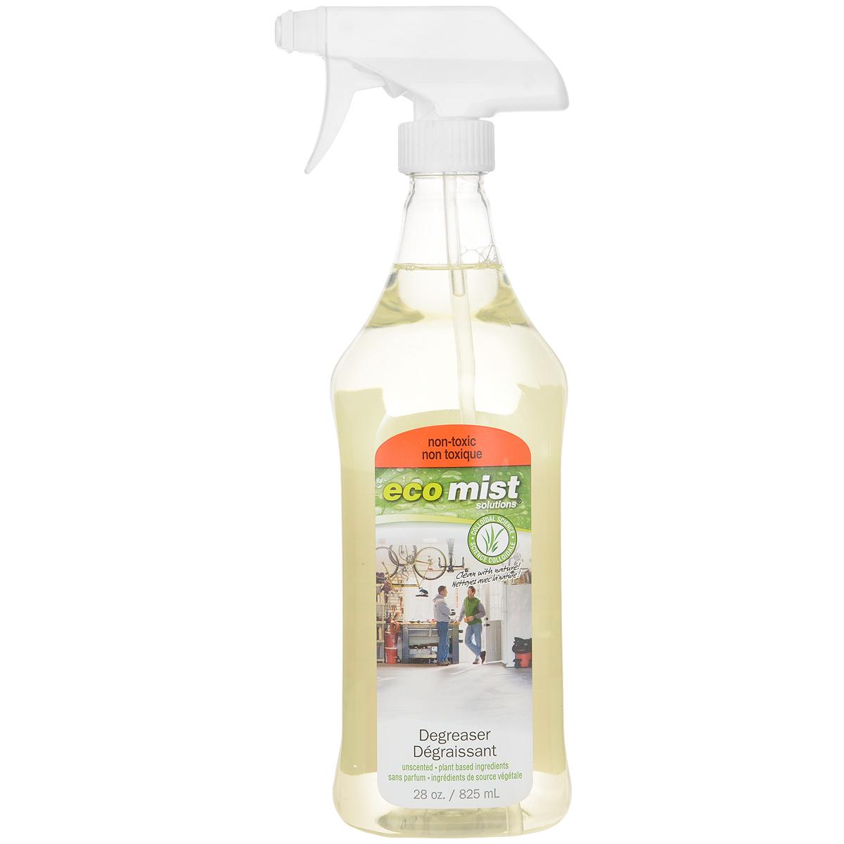 Средство для удаления жира Eco Mist, 825 мл391602Активная инновационная формула средства Eco Mist легко растворяет, эмульсирует и удаляет с поверхностей жир органического и технического характера. Средство является незаменимым помощником при чистке духовок, плит, посуды, вытяжек, бытовых приборов и даже гаражных помещений. Удаляет неприятные запахи. Поверхности остаются чистыми без особых усилий и дополнительных средств. Не токсично. Безопасно.Состав: дехлорированная вода, кукуруза, древесный сок, переработанный экстракт кокоса, экстракт зерна, экстракт картофеля.
