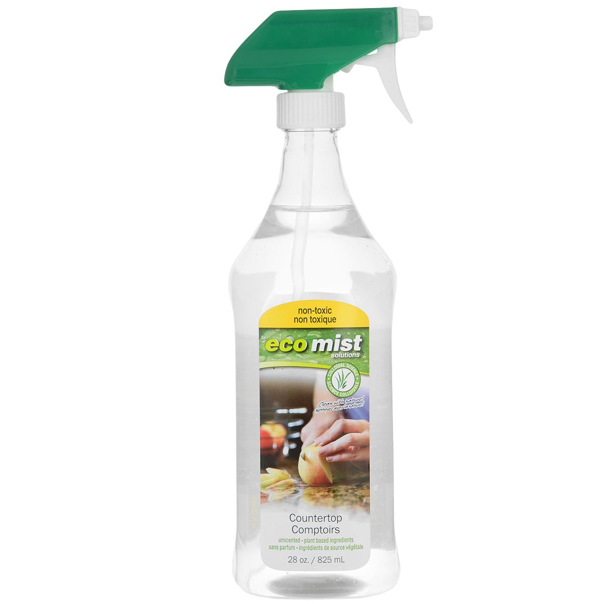 Средство для очистки столешниц Eco Mist, 825 мл68/5/1Средство Eco Mist предназначено для удаления пыли, грязи, плесени, грибка со всех видов каменных столешниц и предметов - гранитных, мраморных, известняковых, керамических. Незаменимое средство при уборке саун, бань и др. Придает сияющий вид и идеальную чистоту.Состав: дехлорированная вода, обработанный экстракт кокосового ореха, сахарный тростник, экстракт зерна.