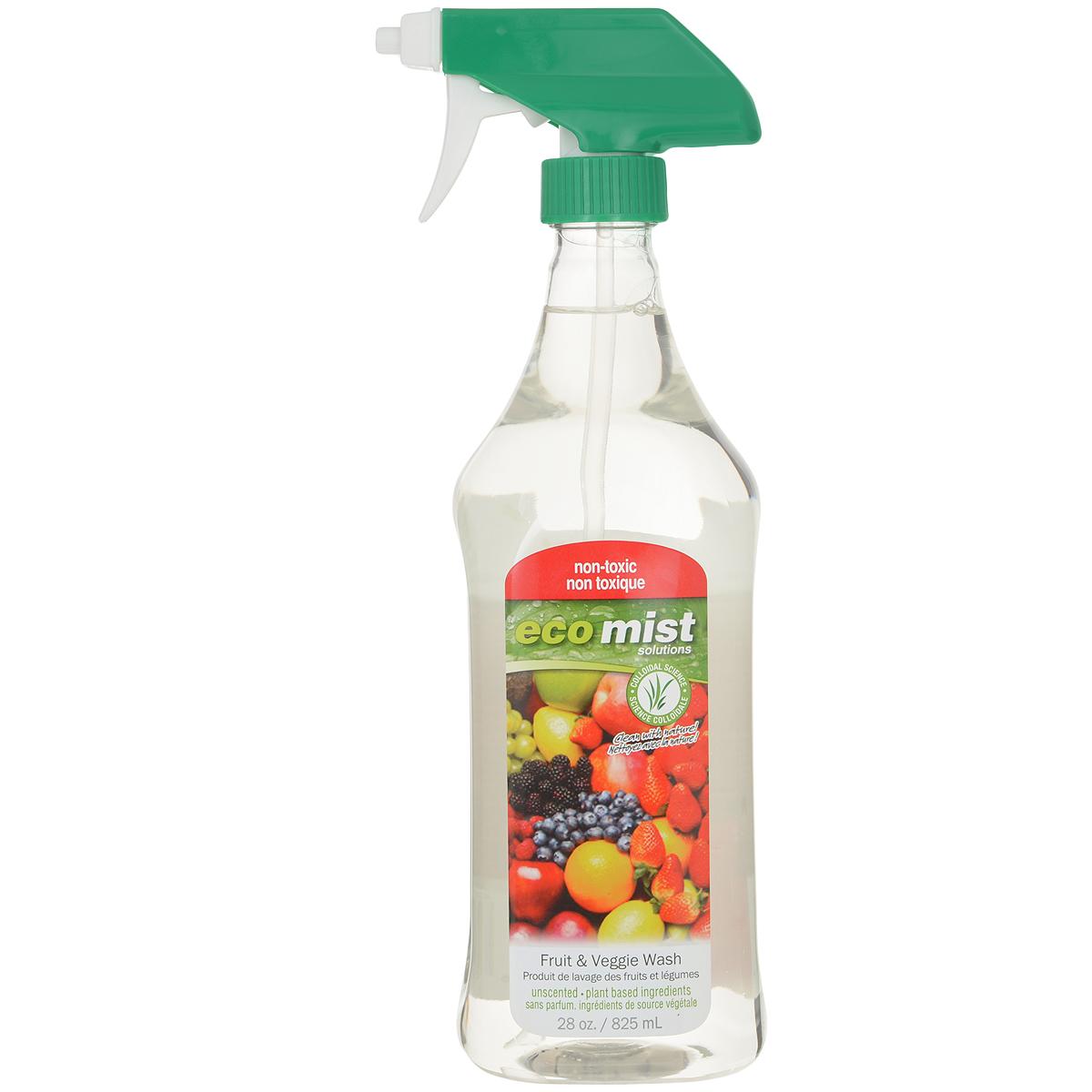 Средство для мытья фруктов и овощей Eco Mist, 825 мл68/5/2Уникальный спрей Eco Mist специально разработан для удаления пестицидов и других токсичных химикатов, воска, земли, удобрений, следов животных и насекомых, следов человеческого и животного происхождения с поверхности фруктов, овощей и корнеплодов. Безопасно. Нетоксично. Рекомендуется обрабатывать фрукты и овощи детям, беременным женщинам, людям страдающим аллергическими заболеваниями.Состав: дехлорированная вода, коричное масло, экстракт бурых водорослей, масло жожоба, экстракт кукурузы.