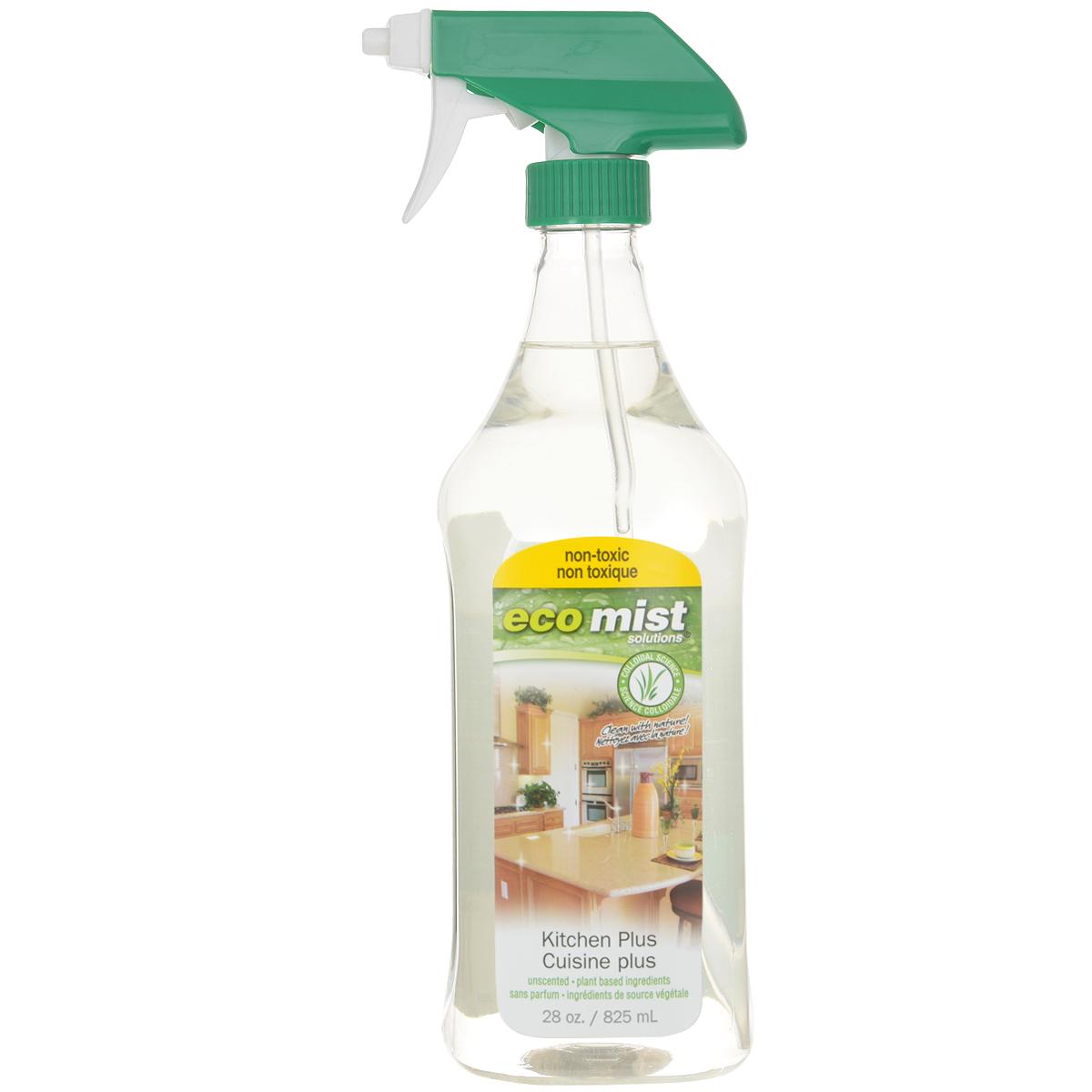 Средство для очистки кухонных поверхностей Eco Mist, 825 млHD-8000SXСредство специального назначения Eco Mist дляежедневной уборке на кухне. Используется для мгновенного придания свежести и чистоты плит, столешниц, раковин, смесителей, шкафов, приборов и стен. Поверхности остаются гладкими и чистыми. Нейтрализует неприятные запахи.Состав: дехлорированная вода, экстракт зерна, древесный сок, злаки, экстракт картофеля, сахарный тростник.