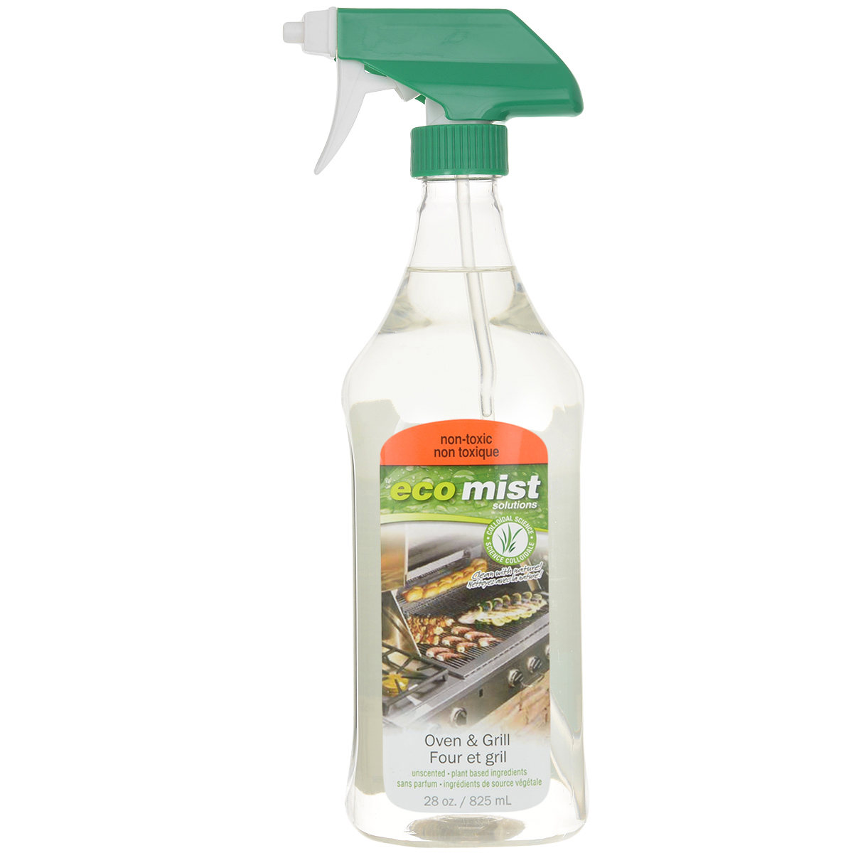 Средство для очистки духовок и гриля Eco Mist, 825 мл790009Средство Eco Mist нового поколения эффективно справляется с нагаром, жиром и неприятным запахом, который остается после приготовления пищи на гриле или в духовке. Без запаха. Не токсично. Безвредно.Состав: дехлорированная вода, зерновые, кукуруза, кокос, древесный сок.