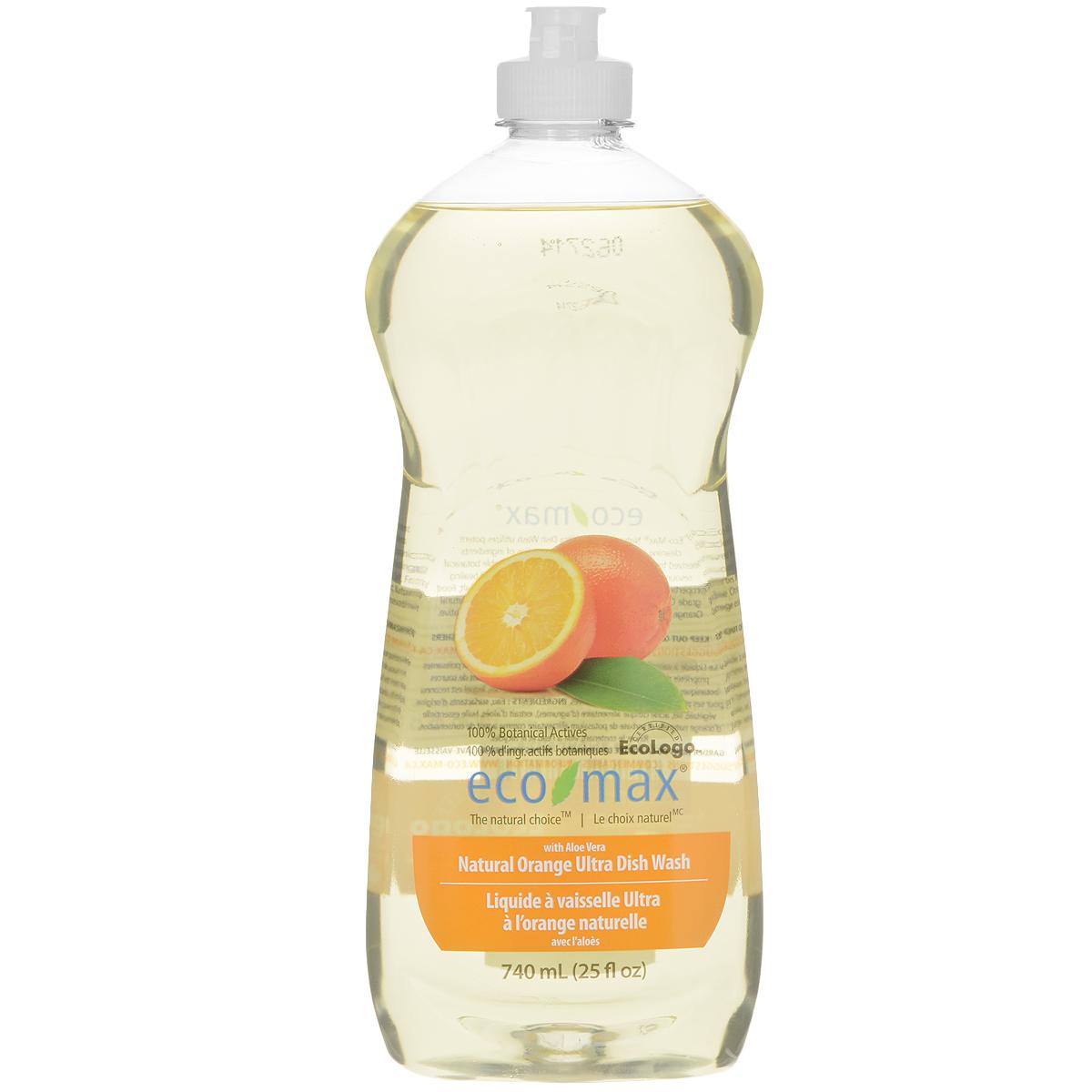Средство для мытья посуды Eco Max Апельсин, 740 мл790009Средство для мытья посуды Eco Max - натуральное средство на 100% растительной основе, полностью биоразлагаемое. В этом средстве используются активные чистящие вещества ингредиентов, полученных из биоразлагаемых и возобновляемых растительных источников. Содержит алоэ вера, обладающее увлажняющими и заживляющими свойствами. Натуральное апельсиновое масло придает посуде свежий аромат. Состав: вода, ПАВ растительного происхождения, растительный экстракт алоэ вера, соль, пищевой сорбат калия в качестве консерванта, пищевая лимонная кислота (из плодов лимона), натуральное эфирное масло апельсина. Товар сертифицирован.
