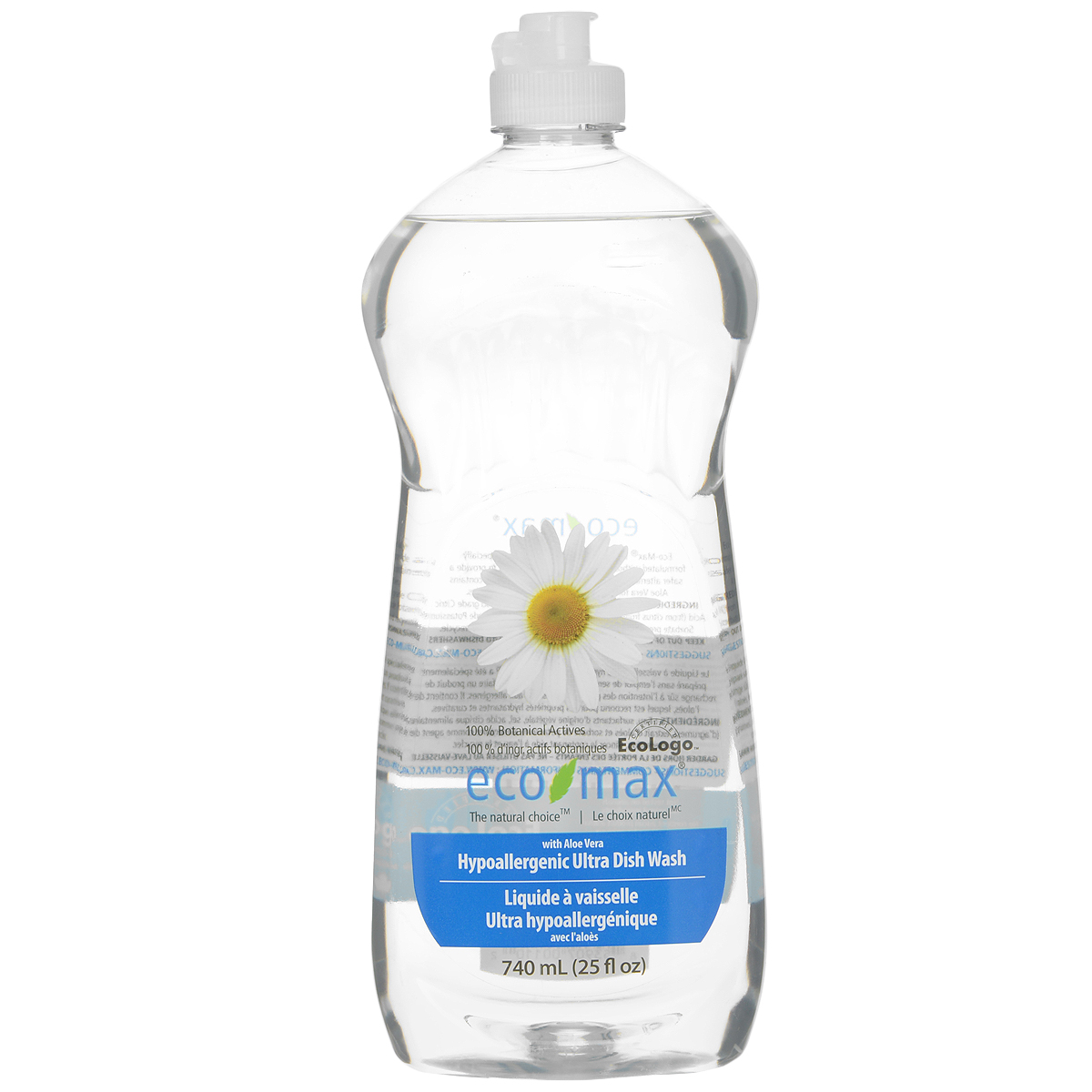 Средство для мытья посуды Eco Max, гипоаллергенное, 740 мл787502Средство для мытья посуды Eco Max - натуральное гипоаллергенное средство без запаха, на 100% растительной основе, полностью биоразлагаемое. Средство безопасно для кожи рук и прекрасно подходит для мытья детских бутылочек, чашек, сосок, молокоотсосов и т.д. В этом средстве используются активные чистящие вещества ингредиентов, полученных из биоразлагаемых и возобновляемых растительных источников. Специально разработано без использования сенсибилизаторов и безопасно для людей, чувствительных к различным запахам. Содержит алоэ вера, обладающее увлажняющими и заживляющими свойствами. Состав: вода, ПАВ растительного происхождения, растительный экстракт алоэ вера, соль, пищевой сорбат калия в качестве консерванта, пищевая лимонная кислота (из плодов лимона). Товар сертифицирован.