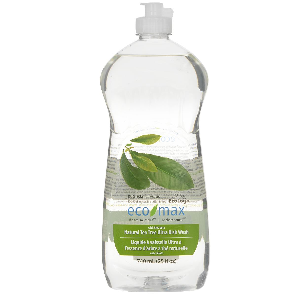Средство для мытья посуды Eco Max Чайное дерево, 740 мл790009Средство для мытья посуды Eco Max - натуральное средство на 100% растительной основе, полностью биоразлагаемое. В этом средстве используются активные чистящие вещества ингредиентов, полученных из биоразлагаемых и возобновляемых растительных источников. Содержит алоэ вера, обладающее увлажняющими и заживляющими свойствами. Натуральное эфирное масло придает посуде свежий аромат. Состав: вода, ПАВ растительного происхождения, растительный экстракт алоэ вера, соль, пищевой сорбат калия в качестве консерванта, пищевая лимонная кислота (из плодов лимона), натуральное эфирное масло чайного дерева, натуральное эфирное масло лемонграсса. Товар сертифицирован.