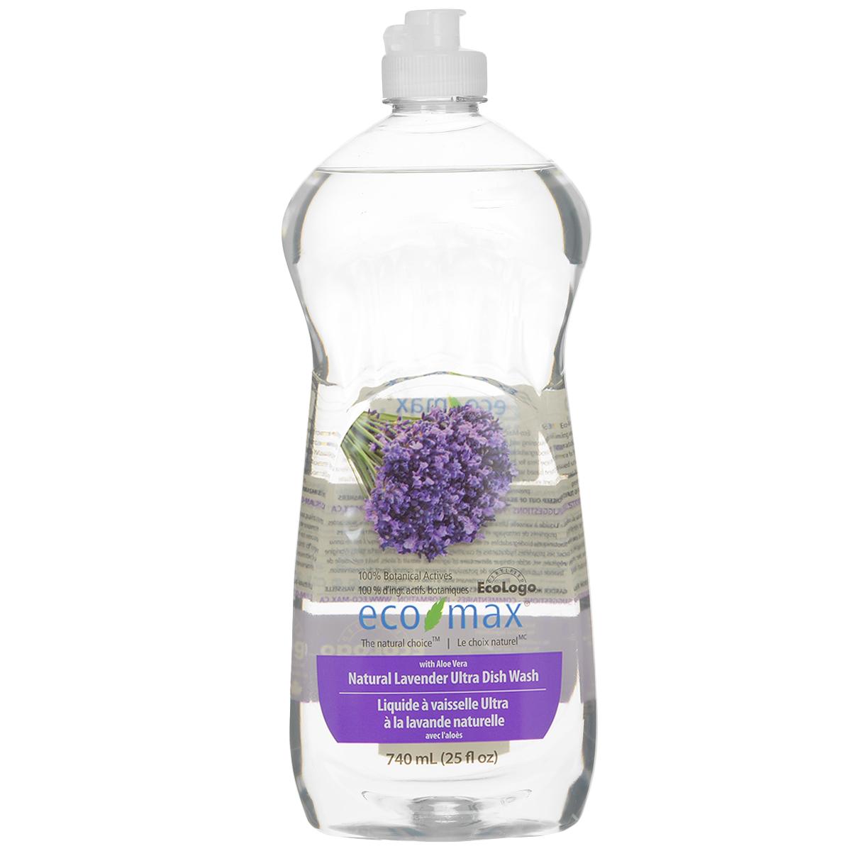 Средство для мытья посуды Eco Max Лаванда, 740 мл0298597Средство для мытья посуды Eco Max - натуральное средство на 100% растительной основе, полностью биоразлагаемое. В этом средстве используются активные чистящие вещества ингредиентов, полученных из биоразлагаемых и возобновляемых растительных источников. Содержит алоэ вера, обладающее увлажняющими и заживляющими свойствами. Натуральное лавандовое масло придает посуде свежий аромат. Состав: вода, ПАВ растительного происхождения, растительный экстракт алоэ вера, соль, пищевой сорбат калия в качестве консерванта, пищевая лимонная кислота (из плодов лимона), натуральное эфирное масло лаванды. Товар сертифицирован.