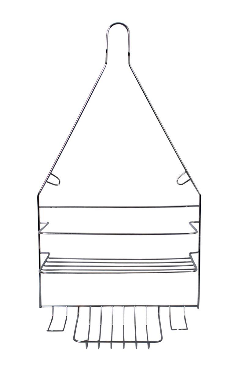 Полка навесная Fresh Code, 25,5 см х 9,9 см х 45,5 см25051 7_зеленыйУдобная компактная полка Fresh Code не требует специального монтажа, ее можно повесить на крючок или штангу в ванной. Универсальный дизайн подойдет для любого интерьера ванной комнаты. Выполнена из хромированной стали.