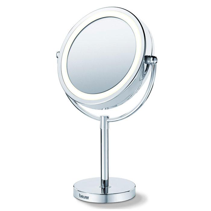 Настольное косметическое зеркало Beurer BS691301205Разработанное специально для проведения косметических процедур и накладывания макияжа зеркало Beurer BS 69 может стать вашим спутником в течение дня. Универсальная форма зеркала впишется в любой интерьер. Пятикратное увеличение и круговая подсветка создают оптимальные условия для создания идеального макияжа. С зеркалом Beurer BS 69 ваша красота не останется не замеченной!Легко поворачиваетсяВысококачественное хромовое покрытие