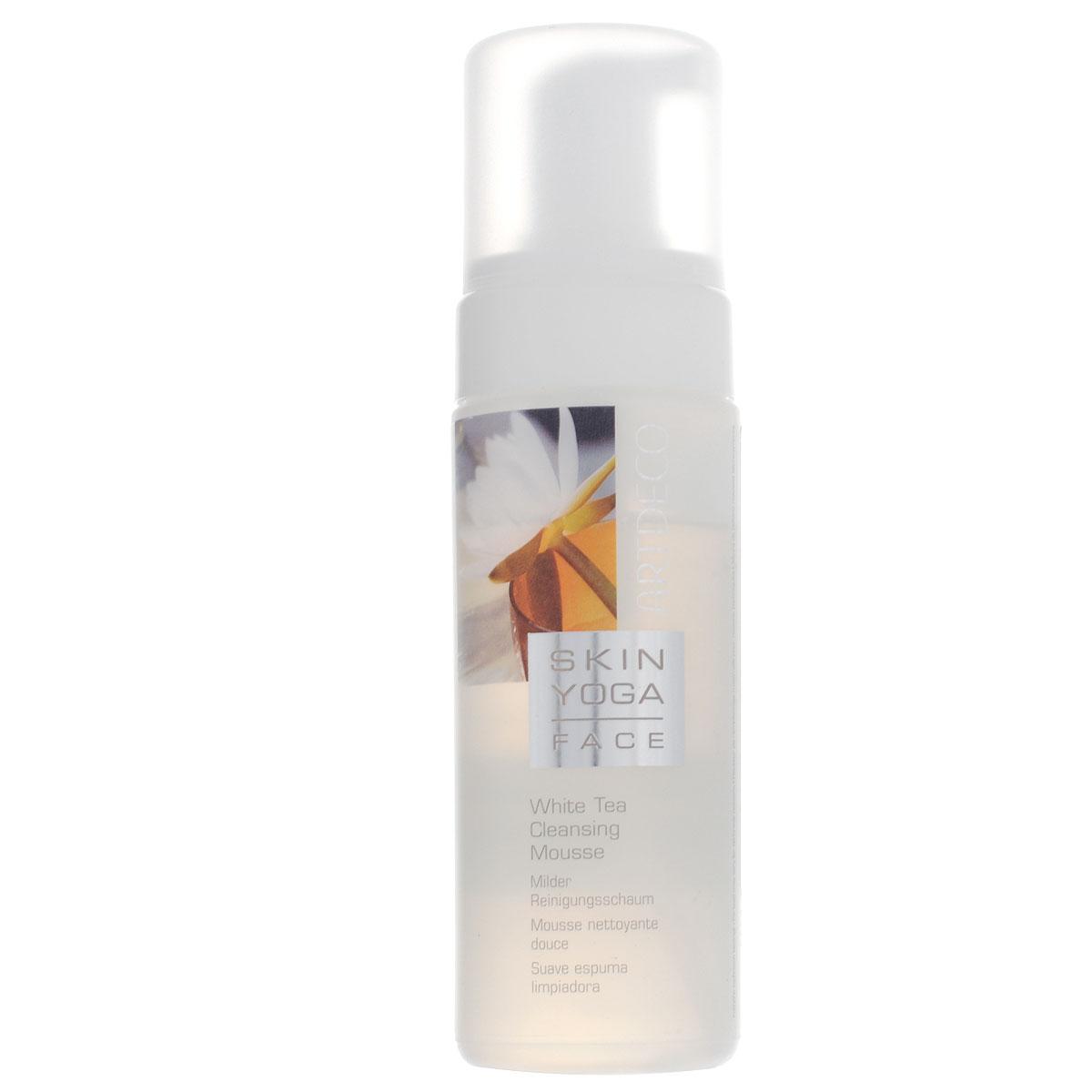 Artdeco Пенка для умывания Skin Yoga, с экстрактом белого чая, 150 млAC-2233_серыйПенка для умывания Artdeco Skin Yoga - это мягкая, как взбитые сливки пена. Средство тщательно и очень бережно снимает макияж, не высушивая кожу. Кожа становится чистой и гладкой и уже в процессе очищения получает уход. Активный компонент Oxyvital повышает уровень поглощения кислорода клетками кожи, а экстракт белого чая увлажняет и успокаивает кожу. Подходит для всех типов кожи.Товар сертифицирован.