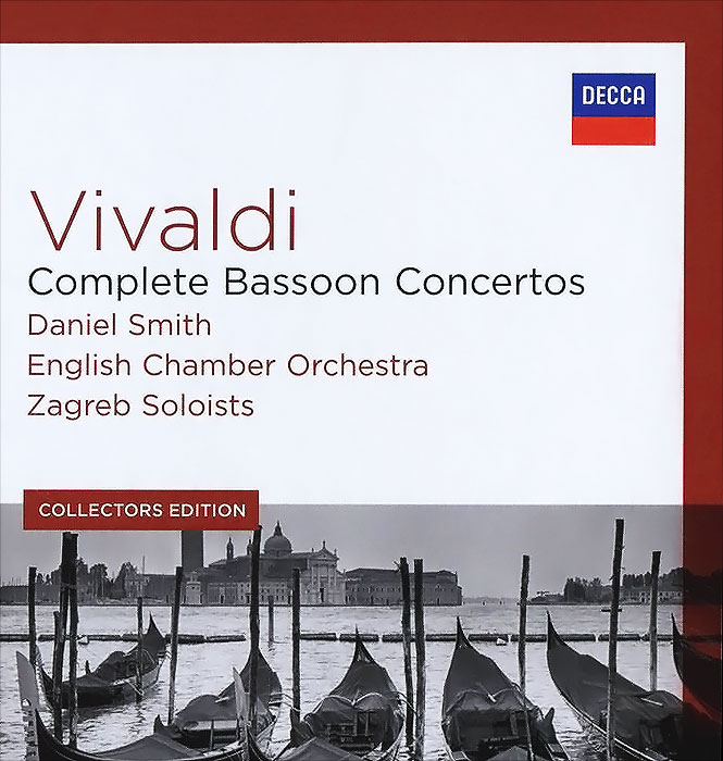 Даниэль Смит,English Chamber Orchestra,Zagreb Soloists,Филип Лейджер,Tonko Ninic Vivaldi. Complete Bassoon Concertos. Daniel Smith / English Chamber Orchestra / Zagreb Soloists. Collectors Edition (5 CD) major ii brown