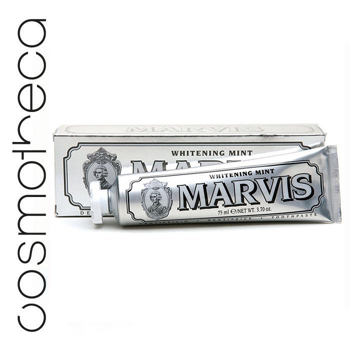 Marvis Зубная паста Мята 75 млMP59.4DЗубная паста Мята освежает дыхание в течение всего дня, предотвращая разрушение зубов, удаляет камень и зубной налет, мягко полируя зубы, не повреждая эмаль.