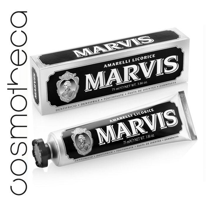 Marvis Зубная паста Лакрица Амарелли 75 млMP59.4DЗубная паста Лакрица Амарелли освежает дыхание в течение всего дня, предотвращает появление кариеса, удаляет зубной налет, мягко полирует зубы, не повреждая эмаль.
