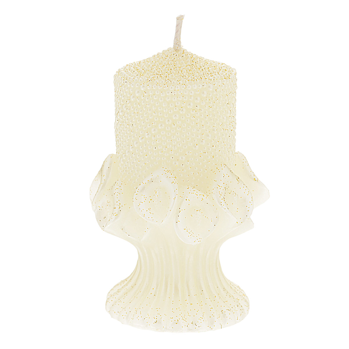 Свеча декоративная Win Max Каллы, цвет: кремовый, 6 см х 6 см х 10 см542645Декоративная свеча Win Max Каллы станет изюменкой в праздничном оформлении вашего интерьера. Изготовлена из парафина и декорирована рельефным узором и золотыми блестками. Основание свечи представляет собой цветочную композицию из калл.Свеча будет отличнымподарком на свадьбу или торжество. Упакована в прозрачную пластиковую коробку и украшена бантом. Декоративная свеча Win Max Каллы принесет в ваш дом волшебство и ощущение праздника. Создайте в своем доме атмосферу веселья и радости, и тогда самый обычный день с легкостью превратится в торжество. Размер свечи: 6 см х 6 см х 10 см.