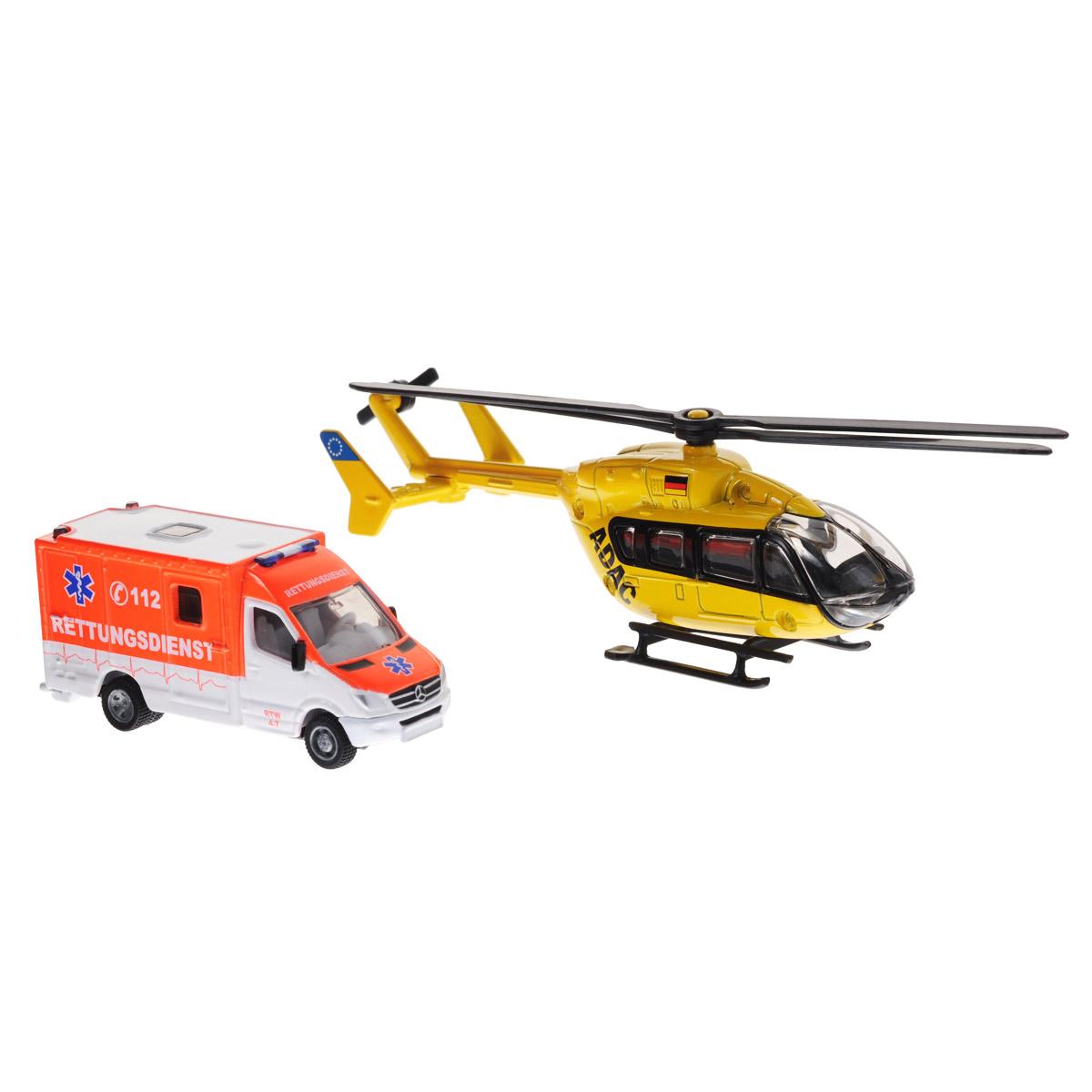 Siku Игровой набор Скорая помощь и вертолет