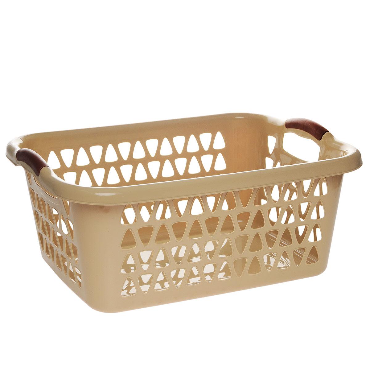Корзина для хранения Dunya Plastik Симпатия, прямоугольная, цвет: бежевый, 51 х 35 х 20 см4W-107Классическая корзина Dunya Plastik Симпатия, изготовленная из пластика, предназначена для хранения мелочей в ванной, на кухне, даче или гараже. Позволяет хранить мелкие вещи, исключая возможность их потери. Это легкая корзина со сплошным дном, жесткой кромкой, с небольшими отверстиями. Изделие оснащено удобными ручками.Размер: 51 см х 35 см х 20 см.