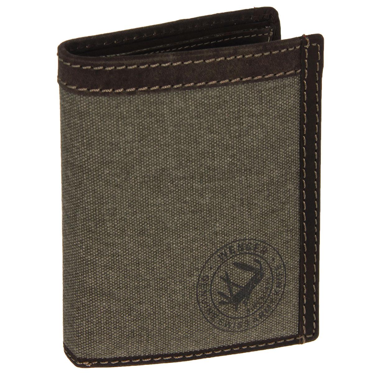Портмоне мужское Wenger, цвет: коричневый. W19-041-022_516Трендовое мужское портмоне Wenger изготовлено из натуральной кожи и текстиля и оформлено светлой прострочкой, а также логотипом бренда на лицевой стороне. Внутри - два отделения для купюр, отсек для мелочи на застежке-кнопке, три боковых кармана и пять прорезей для визиток и кредитных карт. Откидной блок дополнен шестью прорезями и карманом с окошком из прозрачного пластика. Внутренняя поверхность отделана твилом с узором гусиная лапка.Портмоне упаковано в фирменную коробку.Модное портмоне Wenger займет достойное место среди вашей коллекции аксессуаров.По всем вопросам гарантийного и постгарантийного обслуживания рюкзаков, чемоданов, спортивных и кожаных сумок, а также портмоне марок Wenger и SwissGear вы можете обратиться в сервис-центр, расположенный по адресу: г. Москва, Саввинская набережная, д.3. Тел: (495) 788-39-96, (499) 248-56-56, ежедневно с 9:00 до 21:00. Подробные условия гарантийного обслуживания приведены в гарантийном талоне, поставляемым в комплекте с каждым изделием. Бесплатный ремонт изделий производится при условии предоставления гарантийного талона и товарного/кассового чека, подтверждающего дату покупки.