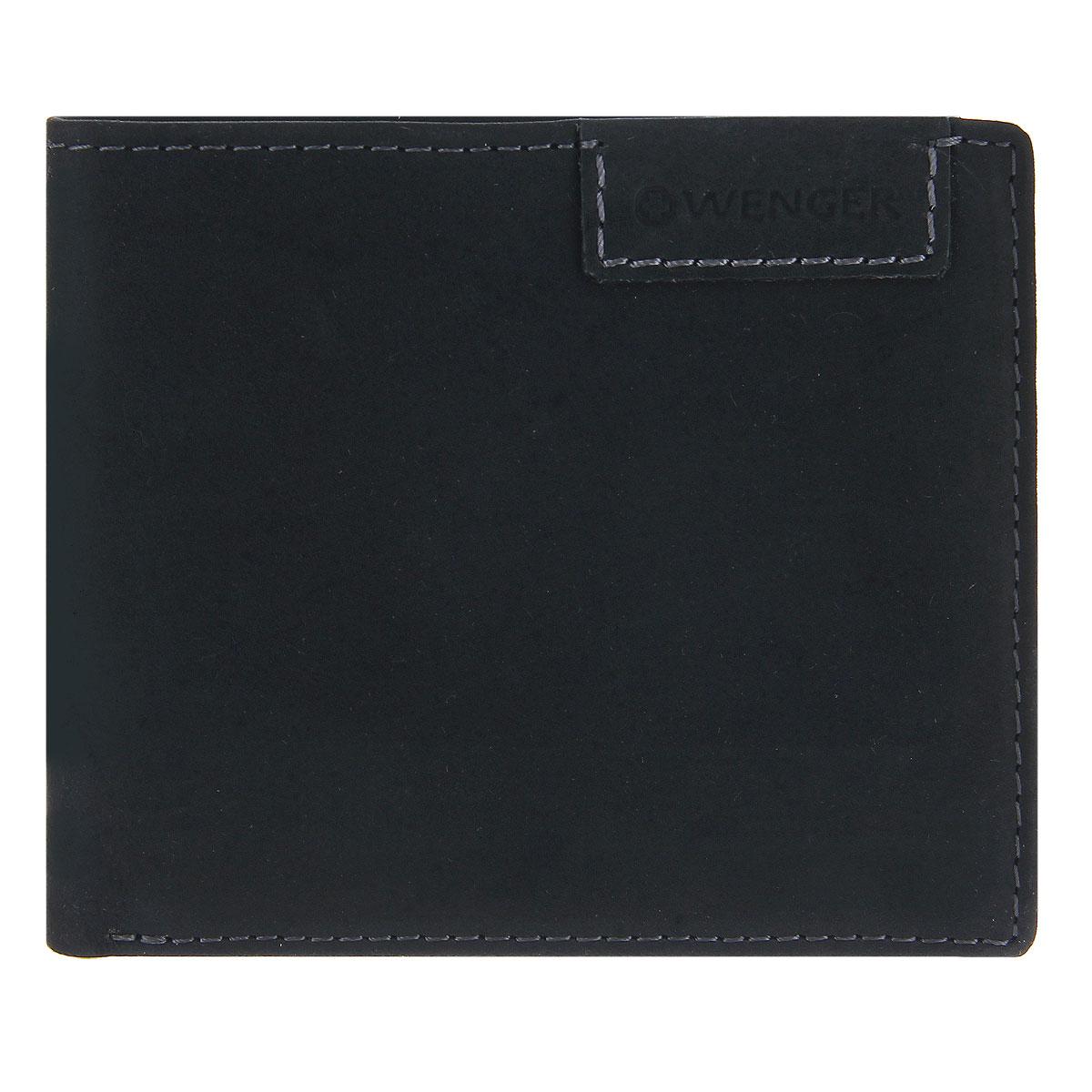 Портмоне мужское Wenger, цвет: черный. W11-11BP-001 BKСтильное мужское портмоне Wenger изготовлено из натурального нубука и оформлено декоративной прострочкой, а также тиснениями в виде логотипа и названия бренда на лицевой стороне. Внутри - одно отделение для купюр, отсек для мелочи на замке-кнопке, два боковых кармана и четыре прорези для визиток и кредитных карт, а также перекидной блок (с сетчатым карманом для фото, четырьмя прорезями и одним боковым карманом). Изюминкой модели является съемный блок из мягкого прозрачного пластика на пять визиток.Портмоне упаковано в изысканную фирменную коробку.Модное портмоне Wenger не оставит равнодушным истинного ценителя прекрасного.По всем вопросам гарантийного и постгарантийного обслуживания рюкзаков, чемоданов, спортивных и кожаных сумок, а также портмоне марок Wenger и SwissGear вы можете обратиться в сервис-центр, расположенный по адресу: г. Москва, Саввинская набережная, д.3. Тел: (495) 788-39-96, (499) 248-56-56, ежедневно с 9:00 до 21:00. Подробные условия гарантийного обслуживания приведены в гарантийном талоне, поставляемым в комплекте с каждым изделием. Бесплатный ремонт изделий производится при условии предоставления гарантийного талона и товарного/кассового чека, подтверждающего дату покупки.