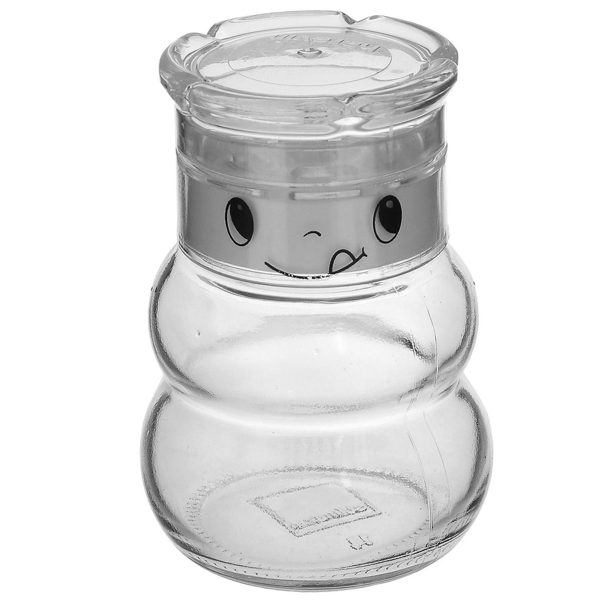 Банка для специй Herevin Шеф, цвет: белый, 200 мл115510Баночка для специй Herevin Шеф изготовлена из прочного прозрачного стекла. Банка оснащена плотно закрывающейся пластиковой крышкой, которая надолго сохранит вкус и аромат специй. Функциональная и вместительная, такая банка станет незаменимым аксессуаром на любой кухне.Можно мыть в посудомоечной машине. Объем: 200 мл. Диаметр (по верхнему краю): 5,5 см. Высота банки (с крышкой): 10 см.