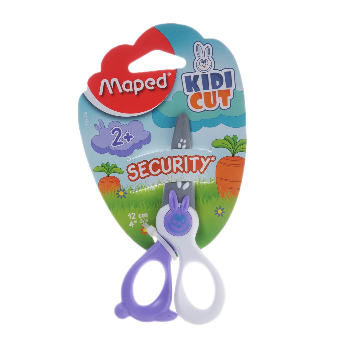 Ножницы детские Maped Security, цвет: сиреневый, белый, 12 смPP-203Детские ножницы Maped Security с закругленными концами имеют специальные лезвия из фибергласа, которые режут бумагу, но не повредят кожу ребенка, волосы или одежду. Идеальны для обучения обращению с ножницами вашего малыша.Рекомендуемый возраст: от 2 лет.