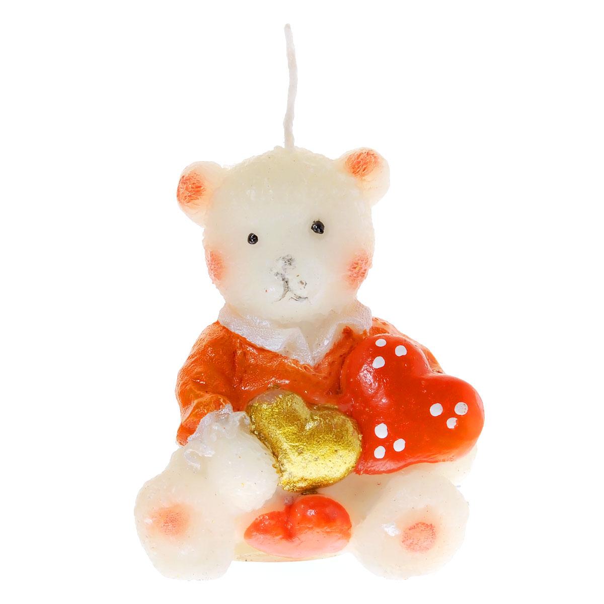 Свеча декоративная Home Queen Медвежонок с сердцем. 5786912723Свеча декоративная Home Queen Медвежонок с сердцем отличный подарок, подчеркивающий яркую индивидуальность того, кому он предназначается. Изделие выполнено из парафина в виде медвежонка держащего сердечки. Такая свеча украсит интерьер вашего дома или офиса. Оригинальный дизайн и красочное исполнение создадут отличное настроение.