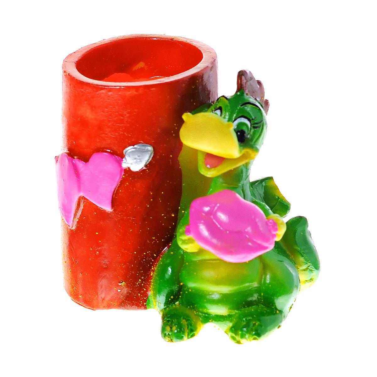 Подставка под зубочистки Lunten Ranta Влюбленный дракон, цвет: зеленый, красный. 5987354 009312Подставка под зубочистки Lunten Ranta Влюбленный дракон изготовлена из полирезины. Изделие выполнено в форме дракона и стаканчика под зубочистки. Такая подставка под зубочистки станет не только приятным подарком, но и практичным сувениром.