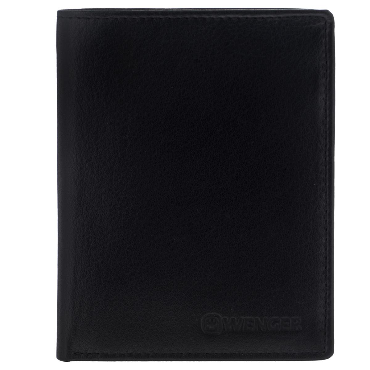 Портмоне мужское Wenger, цвет: черный. W2-031-022_516Лаконичное мужское портмоне Wenger изготовлено из натуральной кожи и оформлено тиснениями в виде названия и логотипа бренда на лицевой стороне. Внутри - два отделения для купюр, отсек для мелочи на замке-кнопке, три боковых кармана и три прорези для визиток и банковских карт. Изюминка модели - откидной блок, который содержит боковой карман, три прорези и сетчатый карман.Изделие упаковано в фирменную коробку.Модное портмоне Wenger придется по душе истинному ценителю прекрасного.По всем вопросам гарантийного и постгарантийного обслуживания рюкзаков, чемоданов, спортивных и кожаных сумок, а также портмоне марок Wenger и SwissGear вы можете обратиться в сервис-центр, расположенный по адресу: г. Москва, Саввинская набережная, д.3. Тел: (495) 788-39-96, (499) 248-56-56, ежедневно с 9:00 до 21:00. Подробные условия гарантийного обслуживания приведены в гарантийном талоне, поставляемым в комплекте с каждым изделием. Бесплатный ремонт изделий производится при условии предоставления гарантийного талона и товарного/кассового чека, подтверждающего дату покупки.