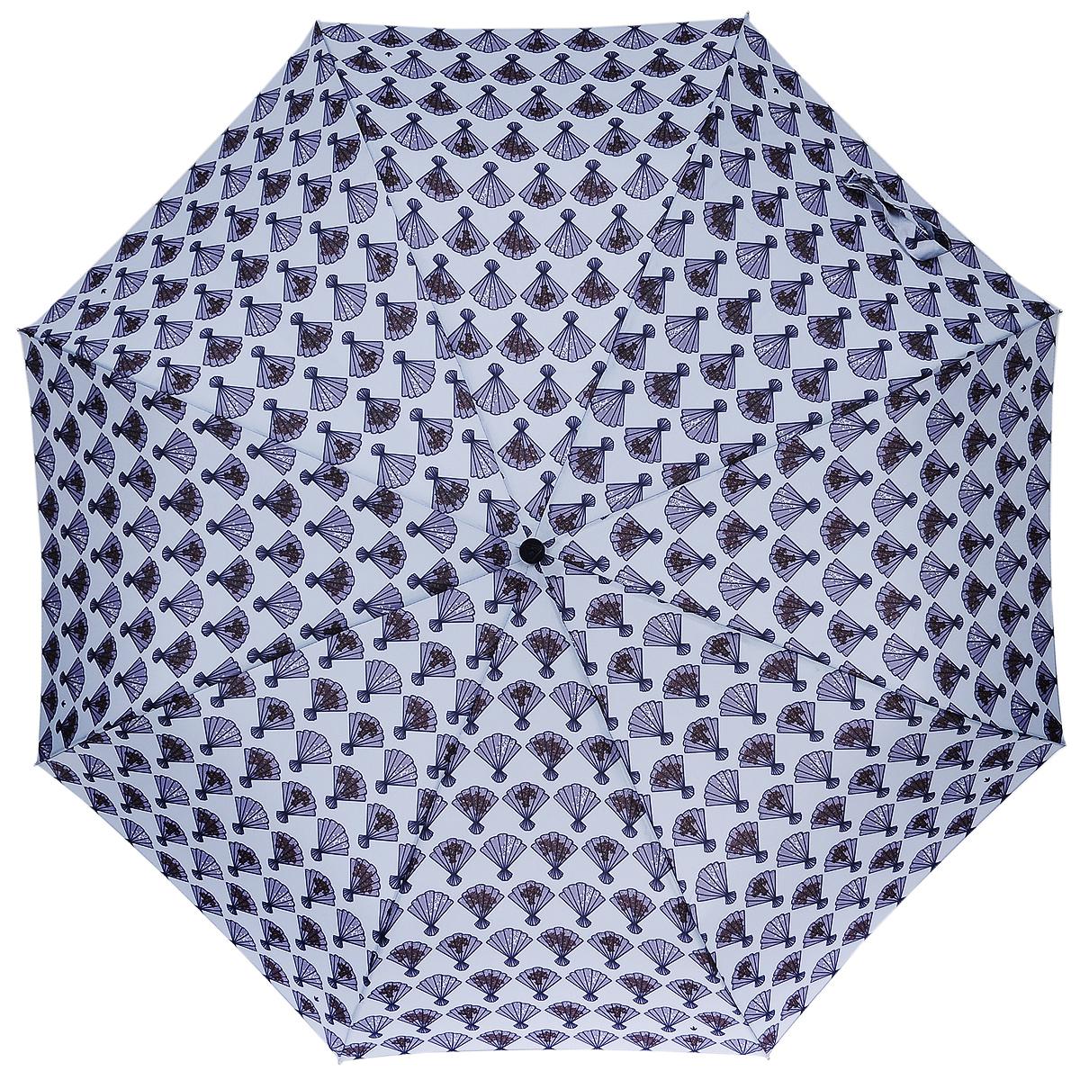 Зонт женский Fulton Flamenco, механический, 3 сложения, цвет: голубой. L354REM12-CAM-GREENBLACKСтильный зонт Fulton Flamenco, защитит от непогоды, а его компактный размер позволит вам всегда носить его с собой. Ветростойкий алюминиевый каркас в 3 сложения состоит из восьми спиц с элементами из фибергласса, зонт оснащен удобной рукояткой из прорезиненного пластика.Купол зонта выполнен из прочного полиэстера и оформлен принтом. На рукоятке для удобства есть небольшой шнурок, позволяющий надеть зонт на руку тогда, когда это будет необходимо.К зонту прилагается чехол. Зонт механического сложения: купол открывается и закрывается вручную, стержень также складывается вручную до характерного щелчка.Характеристики: Материал: алюминий, фибергласс, пластик, полиэстер.Длина зонта в сложенном виде: 24 см.Длина ручки (стержня) в раскрытом виде:54 см.