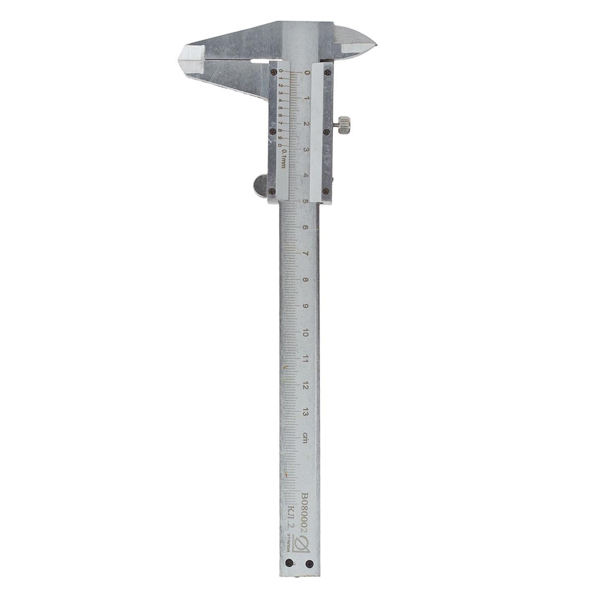 Штангенциркуль Эталон, 12,5 см2706 (ПО)Штангенциркуль предназначен для измерений наружных и внутренних линейных размеров, а так же для измерения глубин. Применяется в машиностроении, приборостроении и других отраслях промышленности. Характеристики: Материал: металл. Длина штангенциркуля: 21 см. Цена деления: 0,1 мм. Класс точности: 2.Размер упаковки: 23 см х 9 см х 0,5 см.
