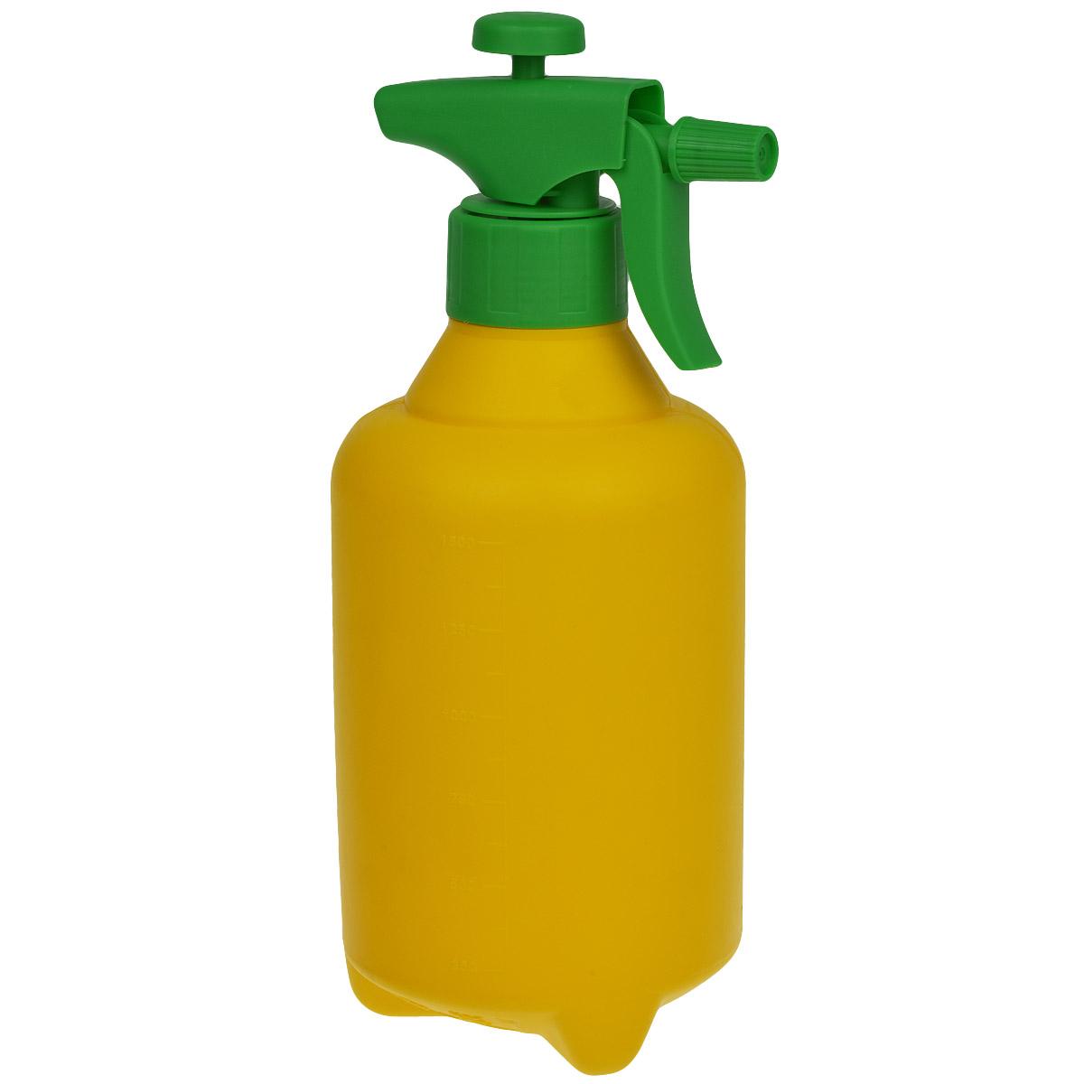 Опрыскиватель помповый Альтернатива, цвет: желтый, зеленый, 1,5 л96515412Помповый опрыскиватель Альтернатива предназначен не только для опрыскивания растений жидкими удобрениями, но и для побелки известью деревьев. Опрыскиватель легок в использовании. При нажатии на специальный рычаг раствор распыляется. Такой опрыскиватель станет незаменимым помощником на вашем садовом участке.