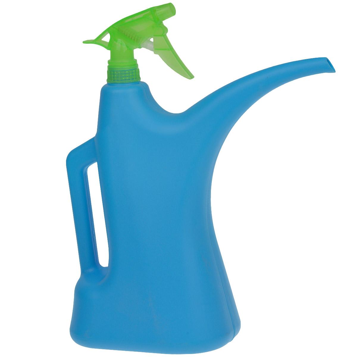Лейка-распылитель Альтернатива, цвет: синий, зеленый, 2 л011H1800Лейка-распылитель Альтернатива предназначена для полива насаждений на приусадебном участке или комнатных растений дома. Она выполнена из пластика и имеет небольшую массу, что позволяет экономить силы при поливе. Удобство в использовании также обеспечивается за счет эргономичной ручки лейки.
