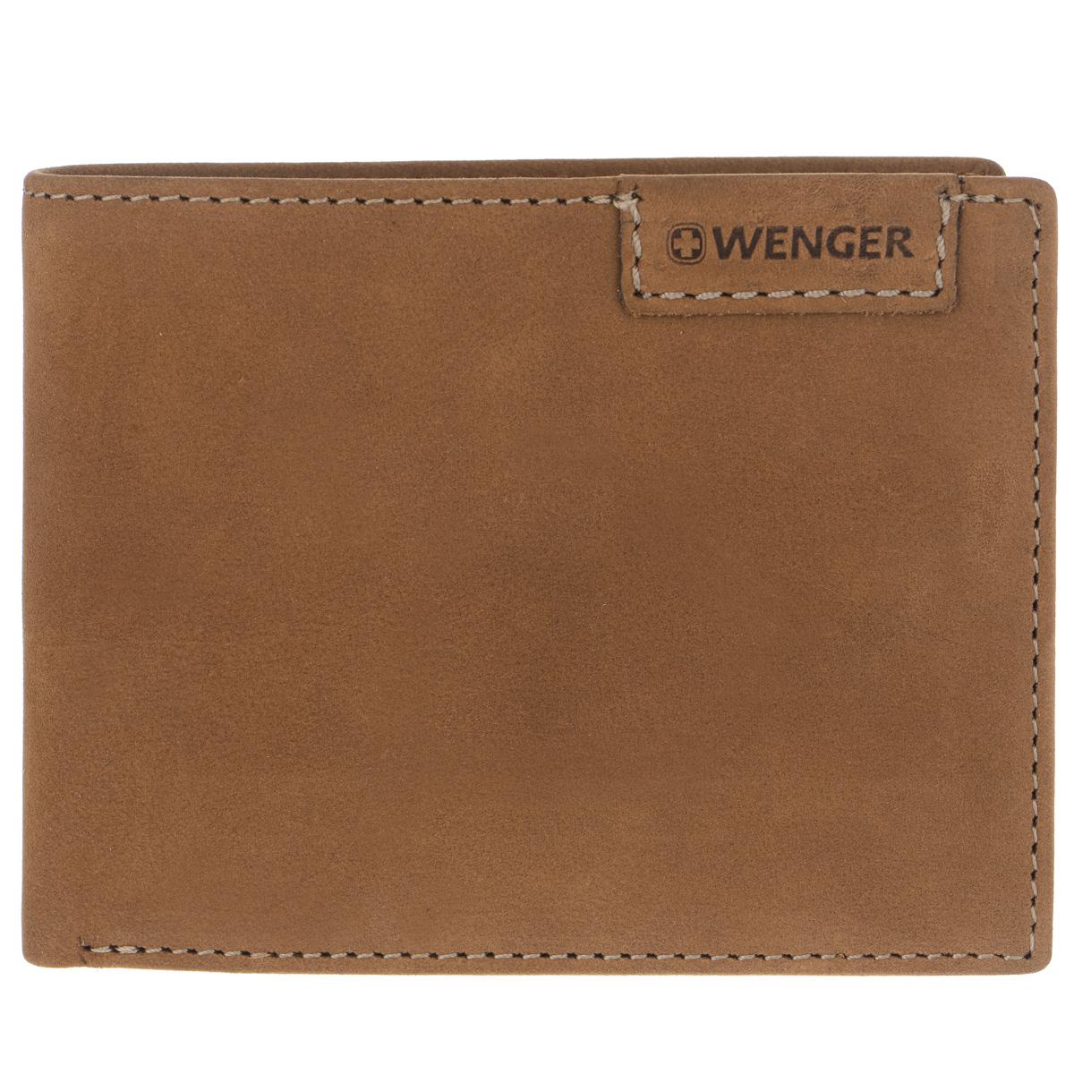 Портмоне мужское Wenger, цвет: коричневый. W11-15BM8434-58AEСтильное мужское портмоне Wenger изготовлено из натурального нубука и оформлено декоративной прострочкой, а также тиснениями в виде логотипа и названия бренда на лицевой стороне. Внутри - два отделения для купюр, отсек для мелочи на замке-кнопке, два боковых кармана и три прорези для визиток и кредитных карт. Изюминкой модели является то, что часть отсеков портмоне закрыто хлястиком на кнопку: сетчатый карман, боковой карман и три прорези для визиток и кредитных карт.Портмоне упаковано в изысканную фирменную коробку.Модное портмоне Wenger не оставит равнодушным истинного ценителя прекрасного.По всем вопросам гарантийного и постгарантийного обслуживания рюкзаков, чемоданов, спортивных и кожаных сумок, а также портмоне марок Wenger и SwissGear вы можете обратиться в сервис-центр, расположенный по адресу: г. Москва, Саввинская набережная, д.3. Тел: (495) 788-39-96, (499) 248-56-56, ежедневно с 9:00 до 21:00. Подробные условия гарантийного обслуживания приведены в гарантийном талоне, поставляемым в комплекте с каждым изделием. Бесплатный ремонт изделий производится при условии предоставления гарантийного талона и товарного/кассового чека, подтверждающего дату покупки.