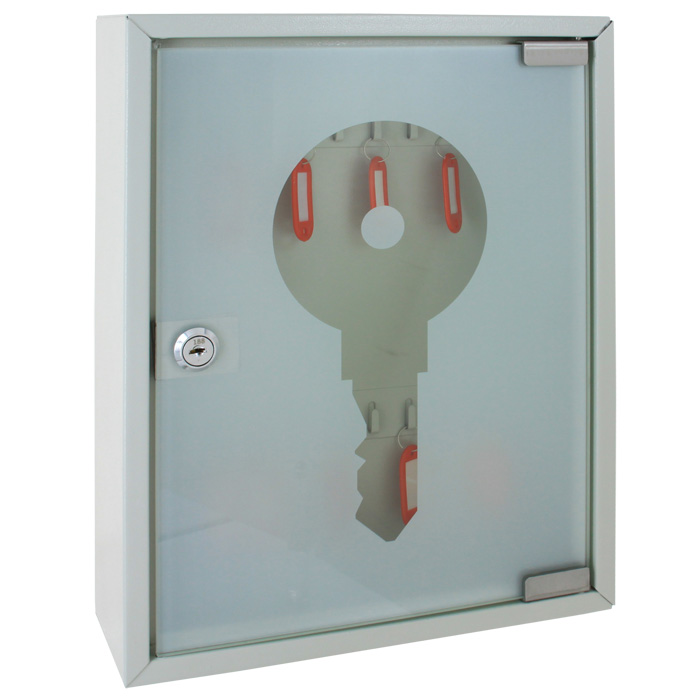 Ящик для 20 ключей Office-Force, цвет: серый. 20084308066Ящик для 20 ключей Office-Force выполнен из прочного металла и оснащен прозрачной дверкой. Ящик надежно закрывается на замок и позволит вам сохранить ваши ключи в порядке и безопасности.Стальной корпус покрашен методом напыления краски в серый цвет. На задней стенке расположены отверстия для крепления бокса к стене. Оснащен прочными металлическими крючками для удобной систематизации ключей. В комплект входят 2 ключа, 20 бирок, наклейки с номерами, 2 дюбеля с шурупами для крепления к стене. Благодаря ящику Office-Force ключи не потеряются и всегда будут на своих местах.