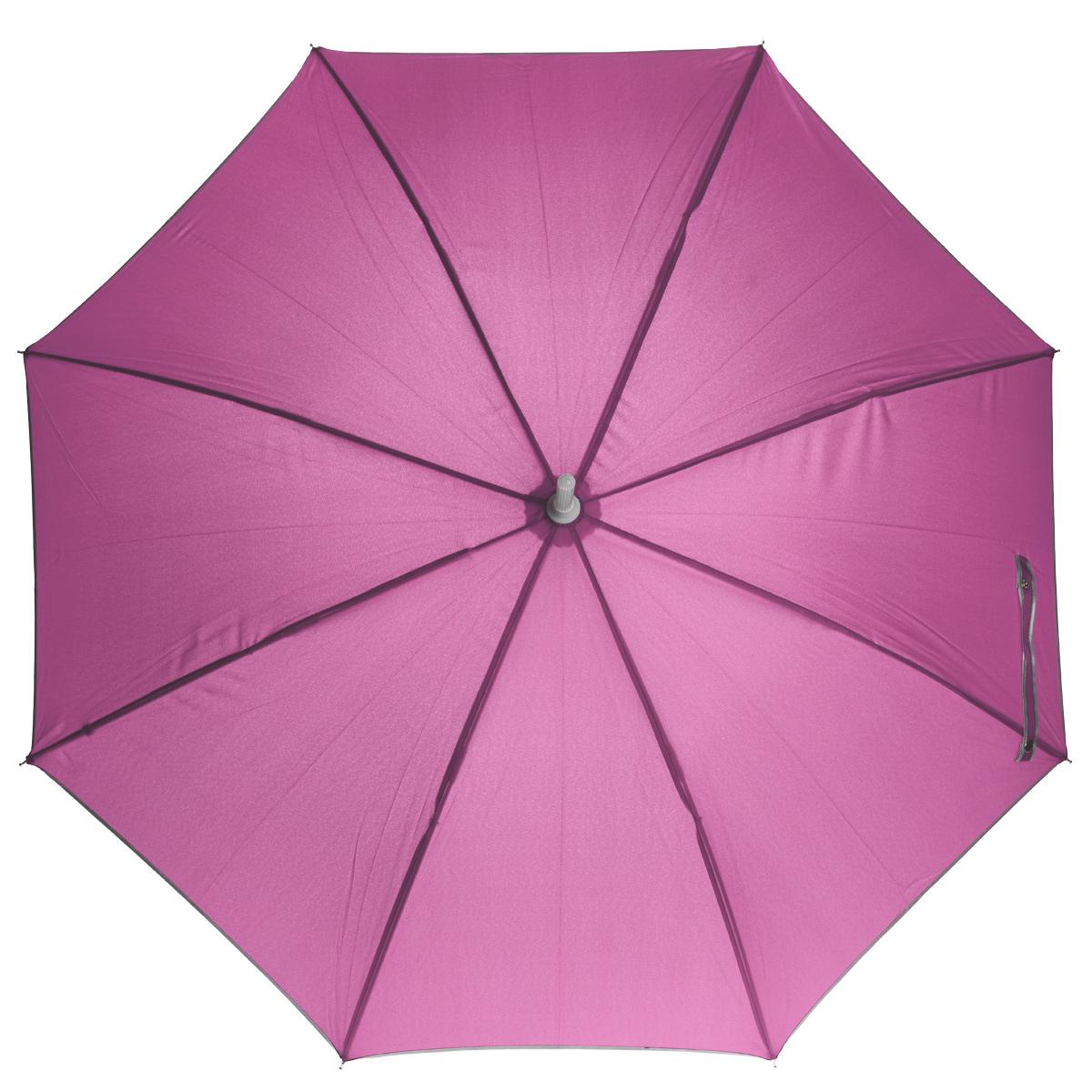 Зонт-трость механический Карамба, со светящейся тростью, цвет: розовыйКолье (короткие одноярусные бусы)Очень симпатичный механический зонт-трость Карамба поднимет вам настроение даже в ненастную погоду. Зонт со светящимся основанием, изменяющем цвет на синий, малиновый, красный, желтый, зеленый. В ручку вмонтирован фонарик. Каркас зонта состоит из прочного стержня и 8 спиц. Купол выполнен из полиэстера. Рукоятка изготовлена из пластика.Зонт-трость имеет механический тип сложения: купол открывается и закрывается вручную.Такой стильный и необычный зонт выделит вас из толпы и поднимет настроение окружающим.Для работы необходимы 3 пальчиковых батарейки. В комплект батарейки не входят.