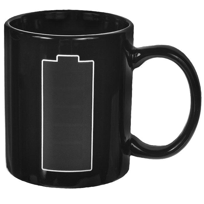 Кружка-хамелеон Эврика Полная зарядка, 200 мл115510Кружка-хамелеон Эврика Полная зарядка выполнена из высококачественной керамики. По мере наполнения, шкала зарядки заполняется. В холодном состоянии на кружке нарисована шкала аккумулятора. Если в нее налить горячий напиток, то рисунок меняет цвет. Такой подарок станет не только приятным, но и практичным сувениром: кружка станет незаменимым атрибутом чаепития, а оригинальный дизайн вызовет улыбку. Высота кружки: 9,5 см. Диаметр (без учета ручки): 8 см.