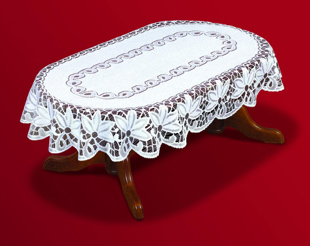 Скатерть Haft Skarb Babuni, овальная, цвет: белый, 120x 160 см. 200811-120NLC.51.05.B11Великолепная овальная скатерть Haft Skarb Babuni, выполненная из полиэстера, органично впишется в интерьер любого помещения, а оригинальный дизайн удовлетворит даже самый изысканный вкус. Скатерть выполнена из сетчатого материала с ажурным орнаментом и ажурными краями. Скатерть Haft Skarb Babuni создаст праздничное настроение и станет прекрасным дополнением интерьера гостиной, кухни или столовой.