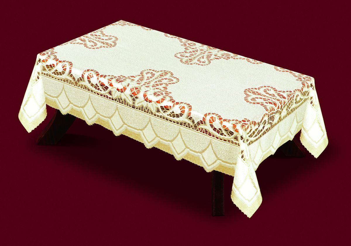 Скатерть Haft, прямоугольная, цвет: кремовый, золотистый, 150x 300 см. 33160-150206840-120 бежевыйВеликолепная прямоугольная скатерть Haft, выполненная из полиэстера, органично впишется в интерьер любого помещения, а оригинальный дизайн удовлетворит даже самый изысканный вкус. Скатерть изготовлена из сетчатого материала с ажурным рисунком.Скатерть Haft создаст праздничное настроение и станет прекрасным дополнением интерьера гостиной, кухни или столовой.