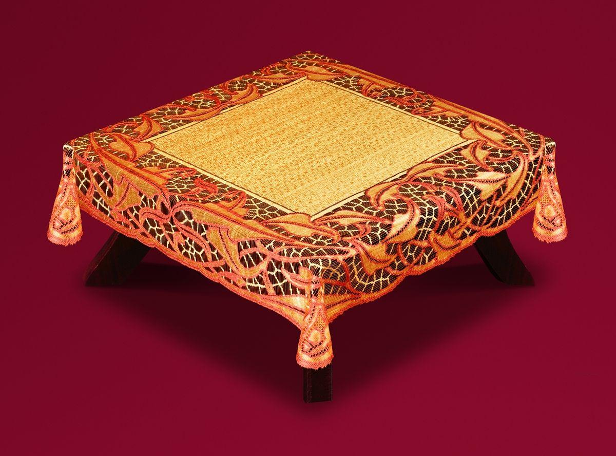 Скатерть Haft Skarb Babuni, квадратная, цвет: оранжево-терракотовый, 120x 120 см. 50912-12050912-120 терракотВеликолепная квадратная скатерть Haft Skarb Babuni, выполненная из полиэстера, органично впишется в интерьер любого помещения, а оригинальный дизайн удовлетворит даже самый изысканный вкус. Скатерть выполнена из сетчатого материала с ажурным рисунком. Скатерть Haft Skarb Babuni создаст праздничное настроение и станет прекрасным дополнением интерьера гостиной, кухни или столовой.