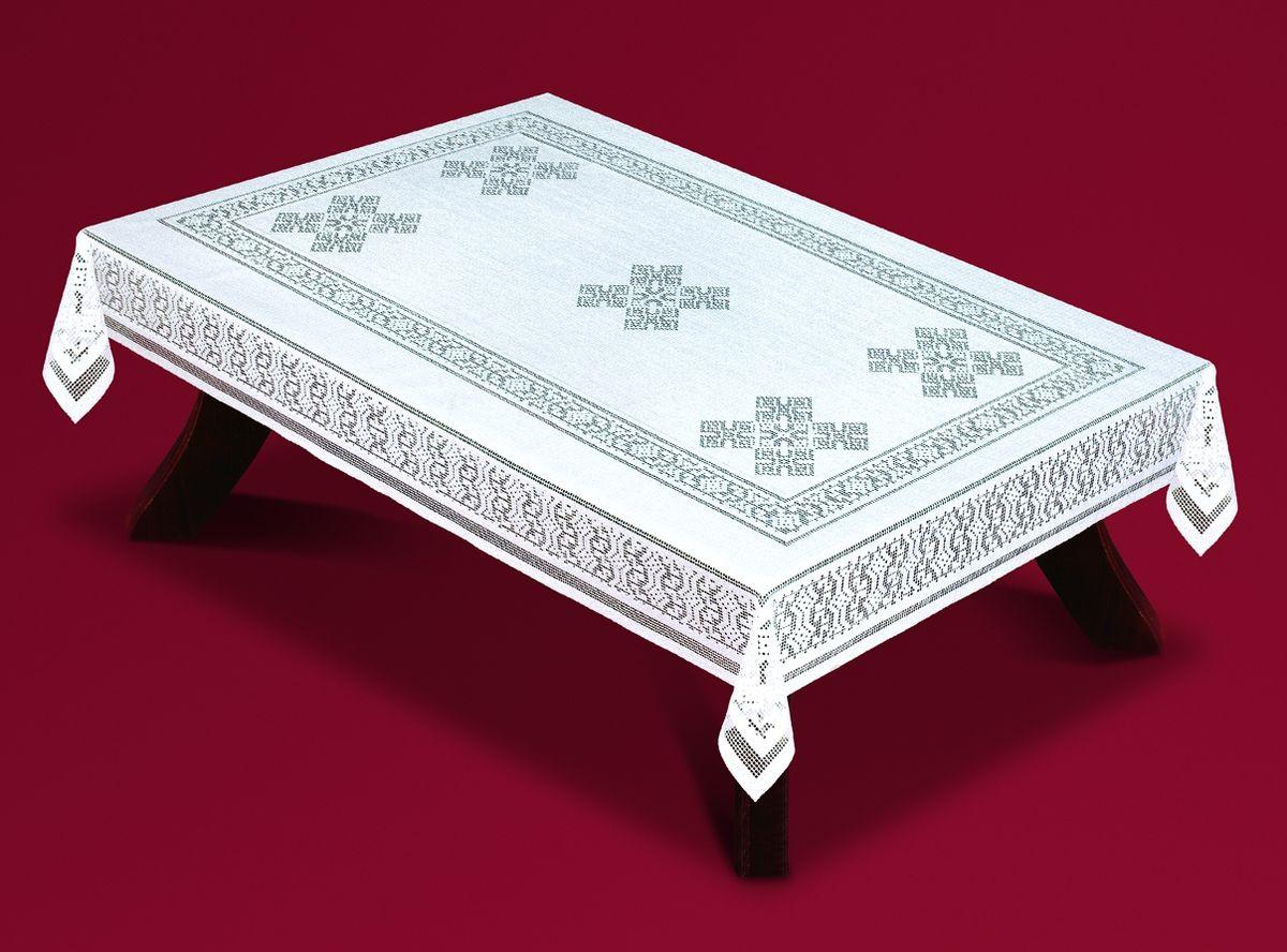 Скатерть Haft, прямоугольная, цвет: белый, 120x 160 см. 59350-12059350-120Великолепная квадратная скатерть Haft, выполненная из полиэстера, органично впишется в интерьер любого помещения, а оригинальный дизайн удовлетворит даже самый изысканный вкус. Скатерть изготовлена из сетчатого материала с ажурным орнаментом. Скатерть Haft создаст праздничное настроение и станет прекрасным дополнением интерьера гостиной, кухни или столовой.