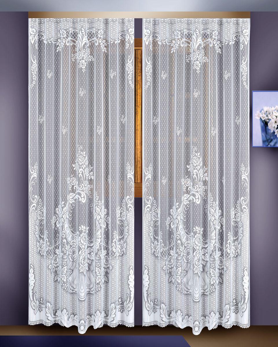 Гардина Zlata Korunka, цвет: белый, высота 255 см, 2 шт. 88822SVC-300Гардина Zlata Korunka великолепно украсит любое окно в гостиной, спальне или на кухне. В комплекте 2 гардины, выполненные из полиэстера и украшенные красивым цветочным узором. Тонкое плетение, нежная цветовая гамма и роскошное исполнение - все это делает гардины Zlata Korunka замечательным дополнением интерьера комнаты в классическом стиле. В комплект входит: Гардина - 2 шт. Размер: 165 см х 255 см.