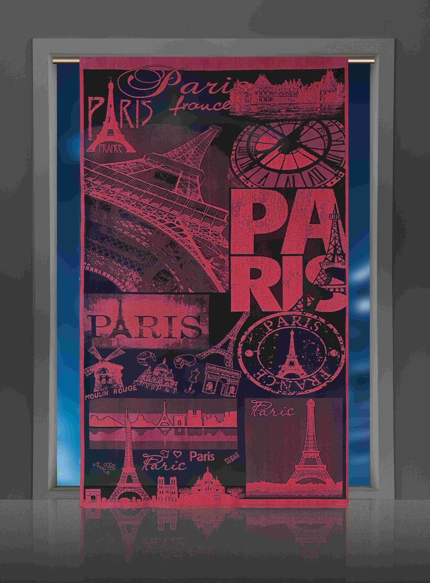 Гардина-панно Wisan Paris, цвет: бордовый, высота 240 смSVC-300Воздушная гардина-панно Wisan Paris, изготовленная из полиэстера, станет великолепным украшением любого окна. Оригинальный принт в виде достопримечательностей Парижа и приятная цветовая гамма привлекут к себе внимание и органично впишутся в интерьер комнаты. Верхняя часть гардины не оснащена креплениями.