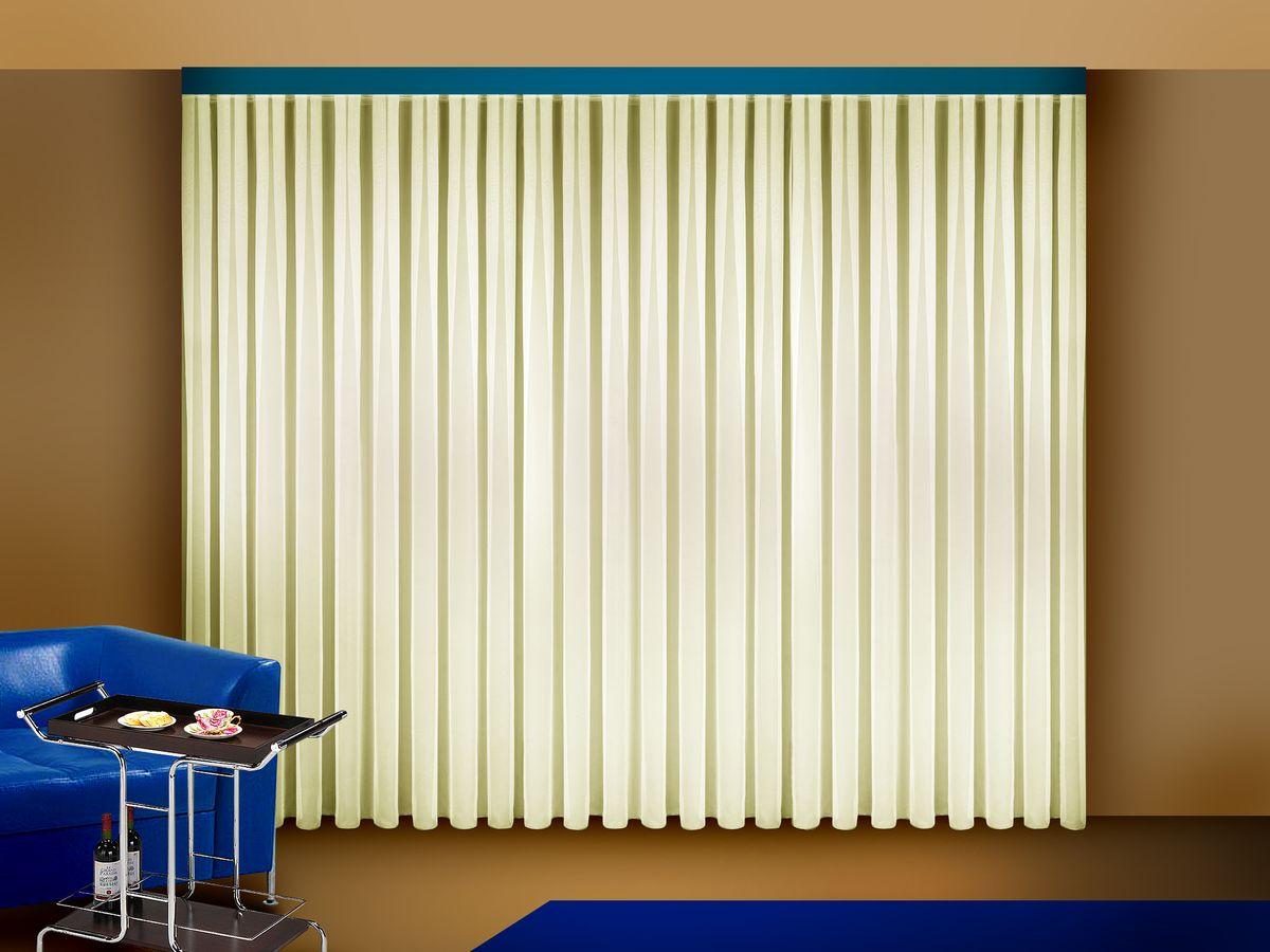 Тюль Zlata Korunka, на ленте, цвет: шампань, высота 270 смSVC-300Тюль Zlata Korunka изготовлен из полиэстера и великолепно украсит любое окно. Воздушная ткань и приятная, приглушенная гамма привлекут к себе внимание и органично впишутся в интерьер помещения. Полиэстер - вид ткани, состоящий из полиэфирных волокон. Ткани из полиэстера - легкие, прочные и износостойкие. Такие изделия не требуют специального ухода, не пылятся и почти не мнутся.Тюль крепятся на карниз при помощи ленты, которая поможет красиво и равномерно задрапировать верх. Такой тюль идеально оформит интерьер любого помещения.