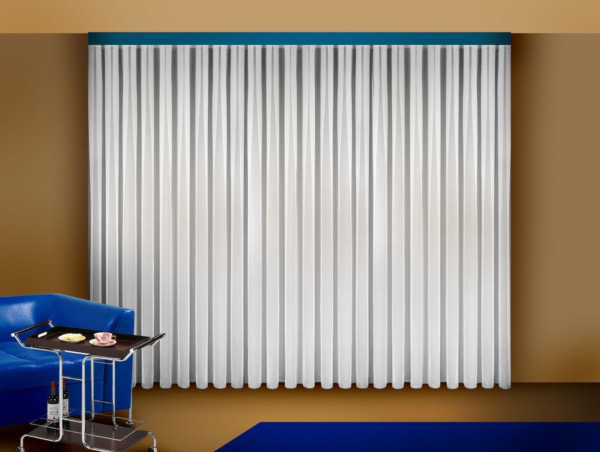 Тюль Zlata Korunka, на ленте, цвет: белый, высота 250 смSVC-300Тюль Zlata Korunka изготовлен из полиэстера и великолепно украсит любое окно. Воздушная ткань и приятная, приглушенная гамма привлекут к себе внимание и органично впишутся в интерьер помещения. Полиэстер - вид ткани, состоящий из полиэфирных волокон. Ткани из полиэстера - легкие, прочные и износостойкие. Такие изделия не требуют специального ухода, не пылятся и почти не мнутся.Тюль крепятся на карниз при помощи ленты, которая поможет красиво и равномерно задрапировать верх. Такой тюль идеально оформит интерьер любого помещения.