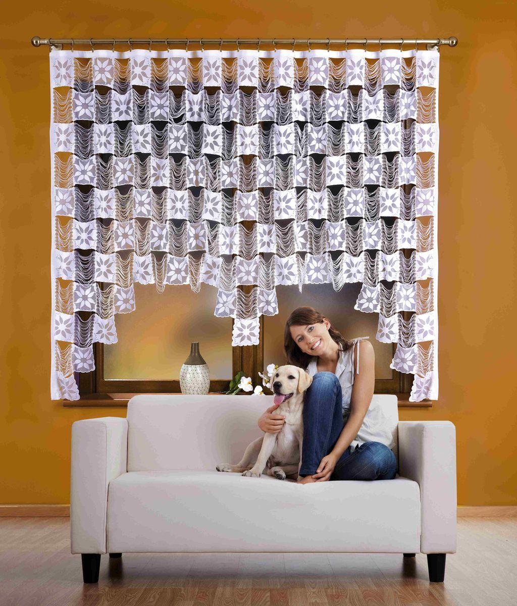 Гардина Wisan Stasia, на ленте, цвет: белый, высота 170 смSVC-300Воздушная гардина Wisan Stasia, изготовленная из полиэстера, станет великолепным украшением любого окна. Изделие выполнено из бахромы с квадратными вставками. Оригинальное оформление гардины внесет разнообразие и подарит заряд положительного настроения.Гардина оснащена шторной лентой для крепления на карниз.