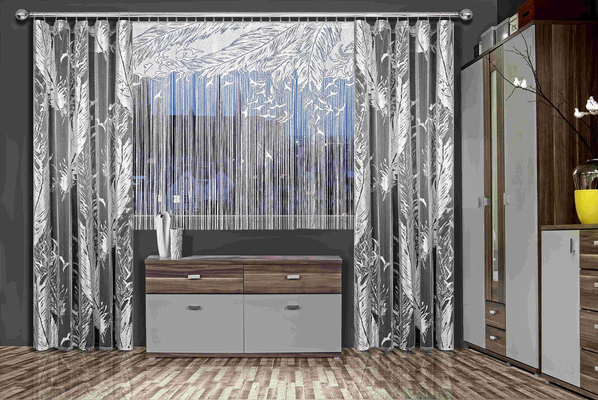 Комплект штор Wisan Laila, на ленте, цвет: белый, серый, высота 250 смStormКомплект штор Wisan Laila, выполненный из полиэстера, великолепно украсит любое окно. В комплект входят 2 шторы и тюль. Бахрома придает комплекту особый стиль и шарм. Тонкое плетение, нежная цветовая гамма и роскошное исполнение - все это делает шторы Wisan Laila замечательным дополнением интерьера помещения.В комплект входит: Штора - 2 шт. Размер (ШхВ): 140 см х 250 см. Тюль - 1 шт. Размер (ШхВ): 220 см х 170 см.Фирма Wisan на польском рынке существует уже более пятидесяти лет и является одной из лучших польских фабрик по производству штор и тканей. Ассортимент фирмы представлен готовыми комплектами штор для гостиной, детской, кухни, а также текстилем для кухни (скатерти, салфетки, дорожки, кухонные занавески). Модельный ряд отличает оригинальный дизайн, высокое качество. Ассортимент продукции постоянно пополняется.