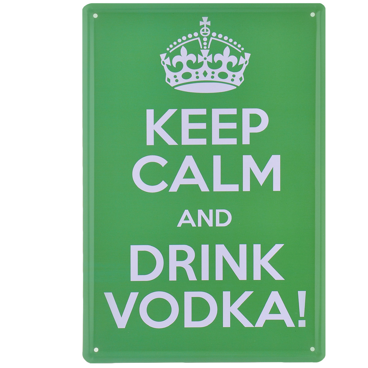 Постер Феникс-презент Сохраняй спокойствие, цвет: зеленый, 20 см х 30 см37436Постер Феникс-презент Сохраняй спокойствие выполнен из черного металла. На постере изображена фраза Keep Calm And Drink Vodka!.Постер заинтересует всех любителей оригинальных вещиц и доставит массу положительных эмоций своему обладателю.Картина для интерьера (постер) - современное и актуальное направление в дизайне любых помещений.Постер может использоваться для оформления любых интерьеров:- дом, квартира (гостиная, спальня, кухня); - офис (комната переговоров, холл, кабинет); - бар, кафе, ресторан или гостиница. Из мелочей складывается стиль интерьера. Постер Феникс-презент Сохраняй спокойствие одна из тех деталей, которые придают интерьеру обжитой вид и создают ощущение уюта.