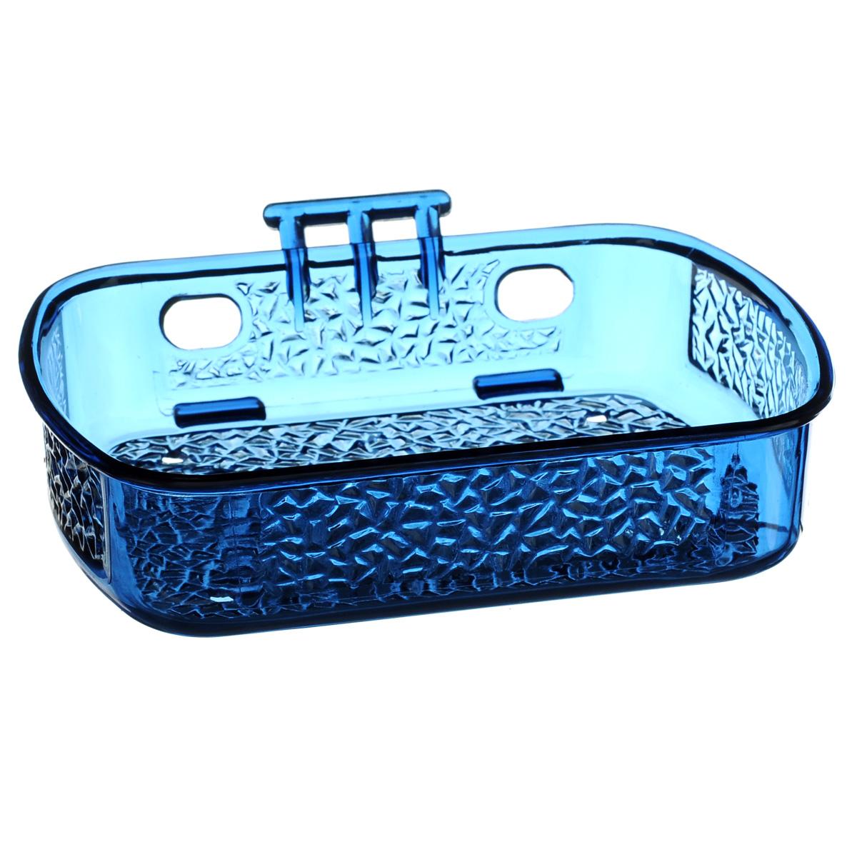 Мыльница Fresh Code, на липкой основе, цвет: синий, 13 см х 10 см68/5/3Мыльница для ванной комнаты Fresh Code, выполнена из цветного пластика. Крепление на липкой ленте многократного использования идеально подходит для гладкой поверхности. Такая мыльница прекрасно подойдет для интерьера ванной комнаты.
