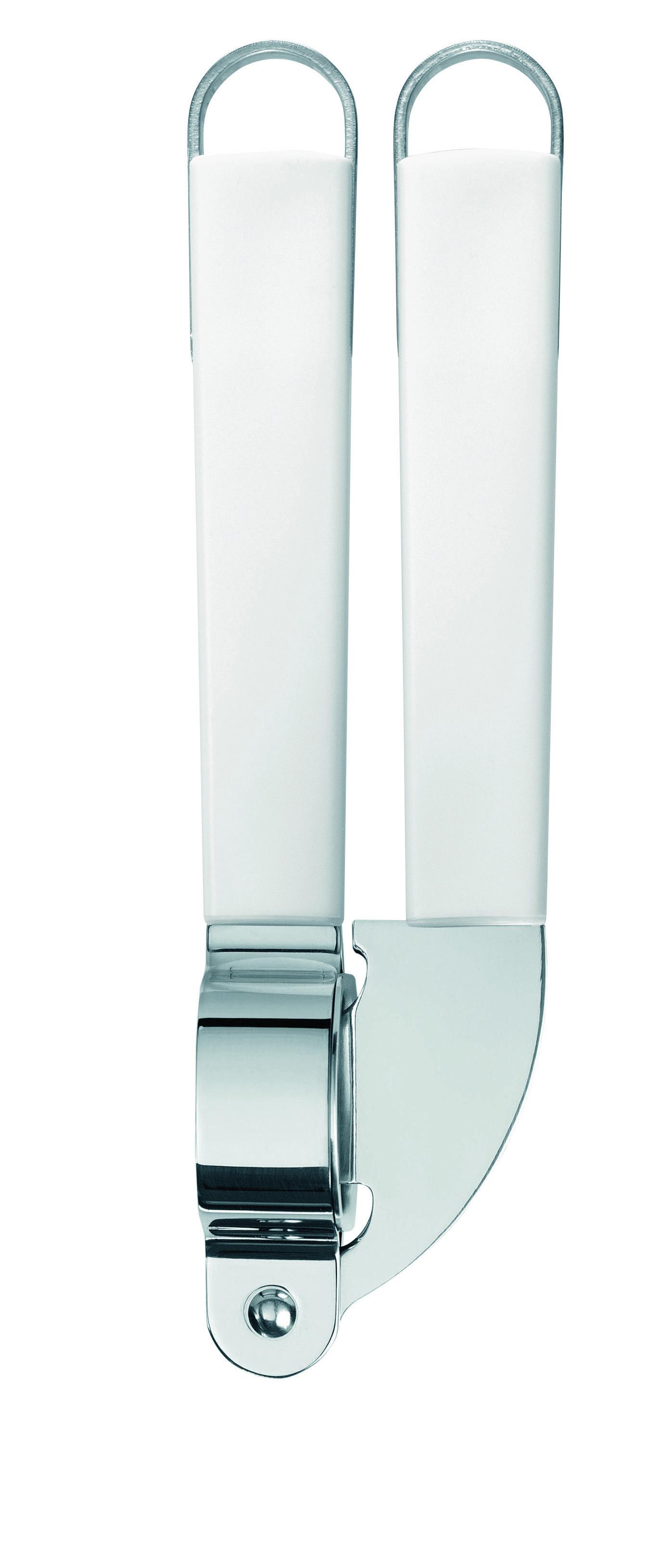 Пресс для чеснока Brabantia. 400667FS-91909Пресс Brabantia, изготовленный из качественной стали, поможет вам без особых усилий измельчить дольки чеснока без остатка. Ручки изделия выполнены из белого пластика и оснащены небольшими петельками, за которые пресс можно подвесить в любом удобном для вас месте. Практичный и удобный пресс для чеснока Brabantia займет достойное место среди аксессуаров на вашей кухне. Характеристики:Материал: пластик, сталь. Размер пресса для чеснока: 19 см х 4,5 см х 2,5 см. Артикул: 400667. Гарантия производителя: 5 лет.