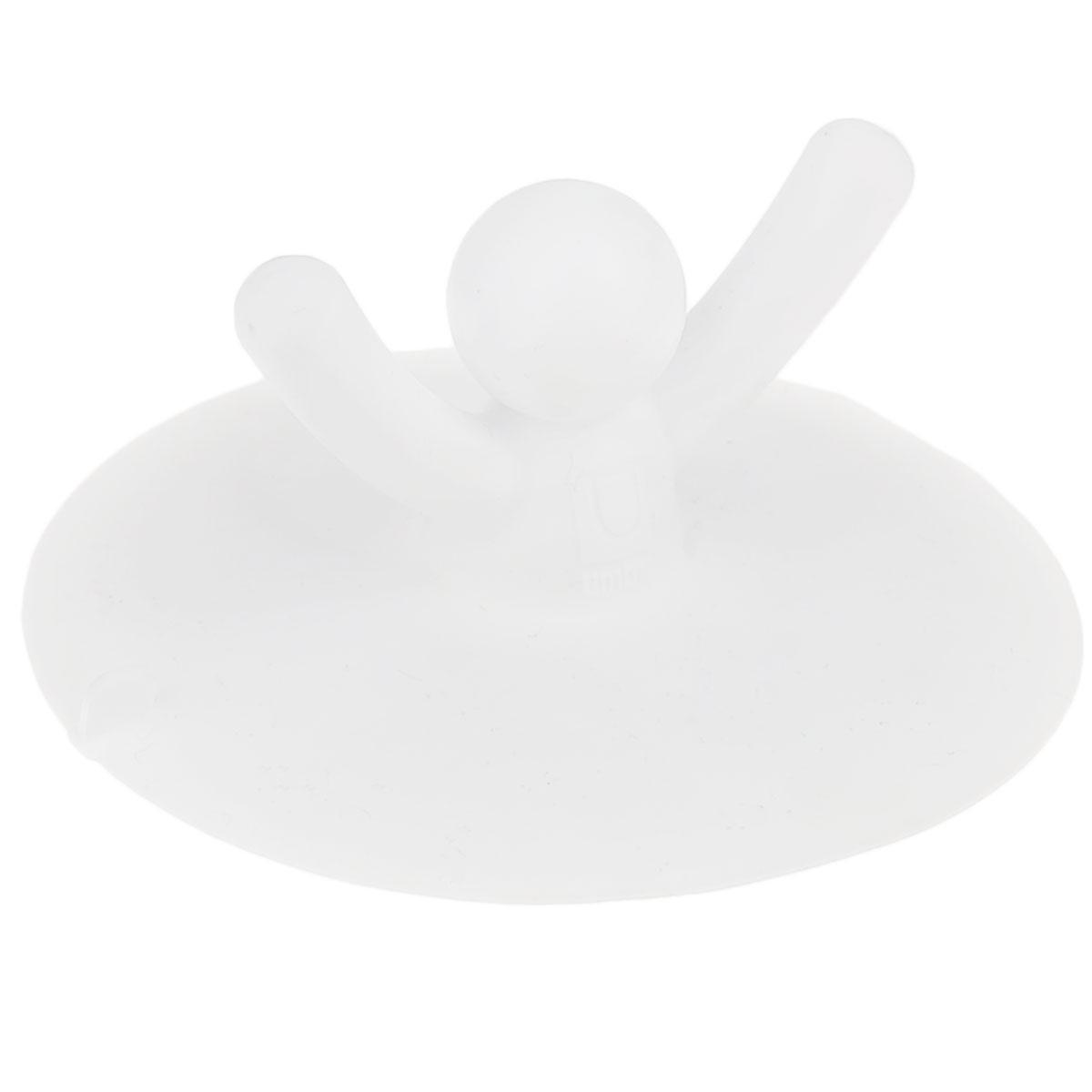 Пробка для раковины Umbra Buddy, цвет: белыйВетерок 2ГФПробка для ванны Umbra Buddy, изготовленная из полипропилена, предназначена для закупоривания сливного отверстия ванной или раковины.Пробка выполнена в виде человечка с поднятыми вверх руками. Потянув за человечка, вы легко вытащите пробку из ванны. Этот оригинальный аксессуар станет приятным дополнением к интерьеру ванной комнаты.
