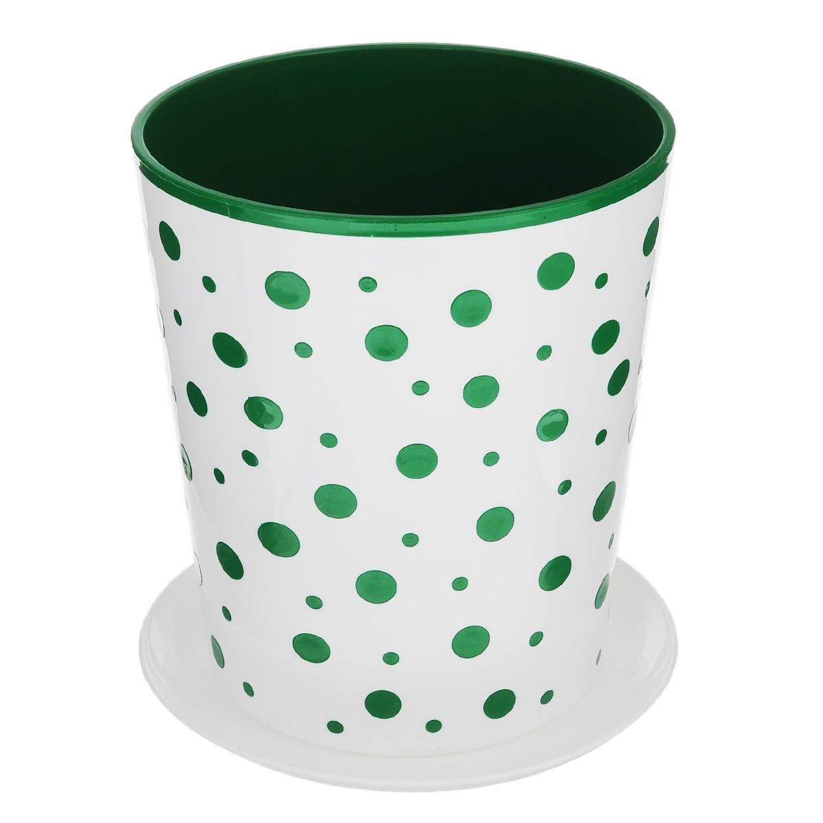 Горшок-кашпо Альтернатива Горошек, цвет: зеленый, белый, 2 лHA07037Горшок-кашпо для цветов Альтернатива Горошек выполнен из прочного пластика. Изделие предназначено для установки внутрь цветочных горшков с растениями.Такие изделия часто становятся последним штрихом, который совершенно изменяет интерьер помещения или ландшафтный дизайн сада. Благодаря такому горшку-кашпо вы сможете украсить вашу комнату, офис, сад и другие места.