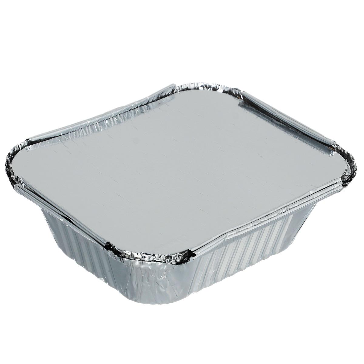 Набор форм для заливного Home Queen, с крышками, 3 шт115510Набор Home Queen, выполненный из алюминиевой фольги состоит из трех форм с крышками. Форма удобная в использовании и идеально подходит для порционного холодца и заливного. Компактное хранение в холодильнике. Крышка не пропускает запахи. Формы также можно использовать без крышки для запекания в духовом шкафу.Размер формы: 15 см х 12 см х 4,5 см.Количество форм: 3 шт.